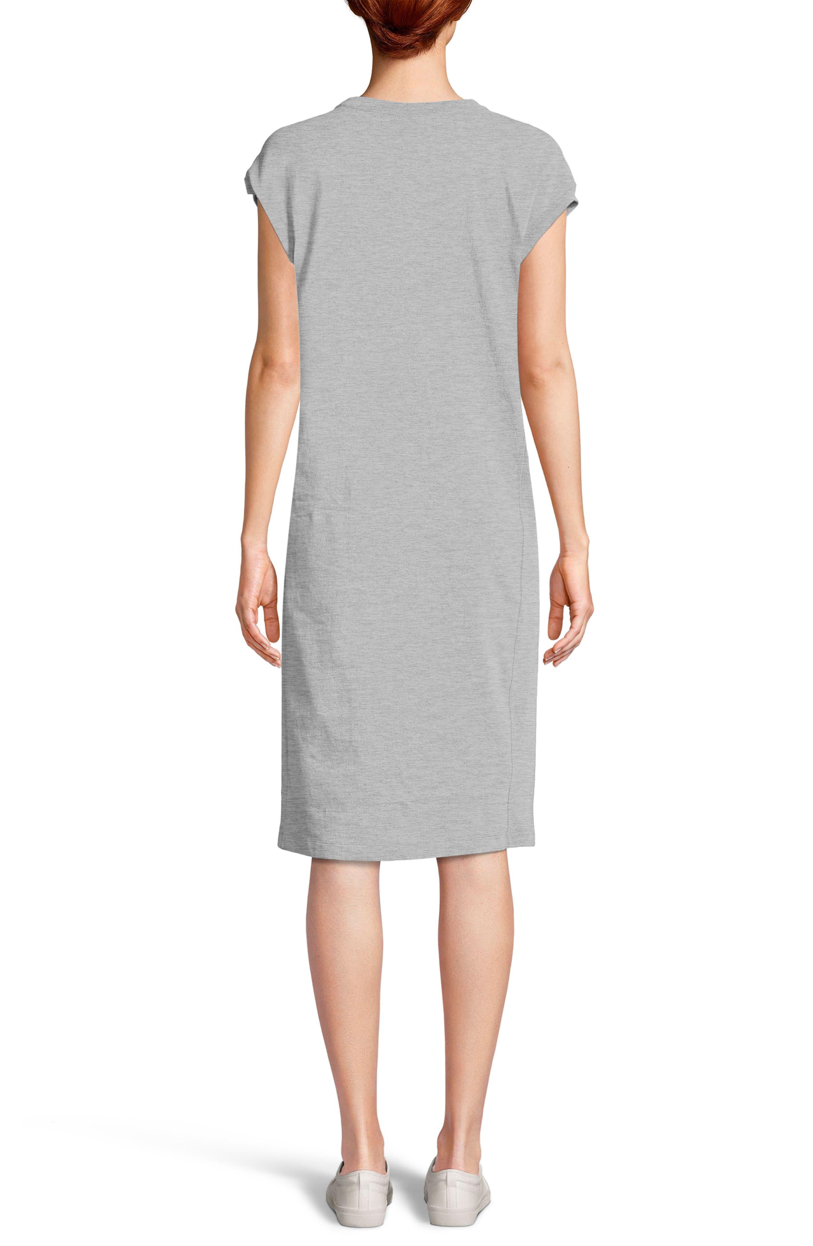Heavyweight Jersey T-Shirt Dress,                             Alternate thumbnail 2, color,                             021