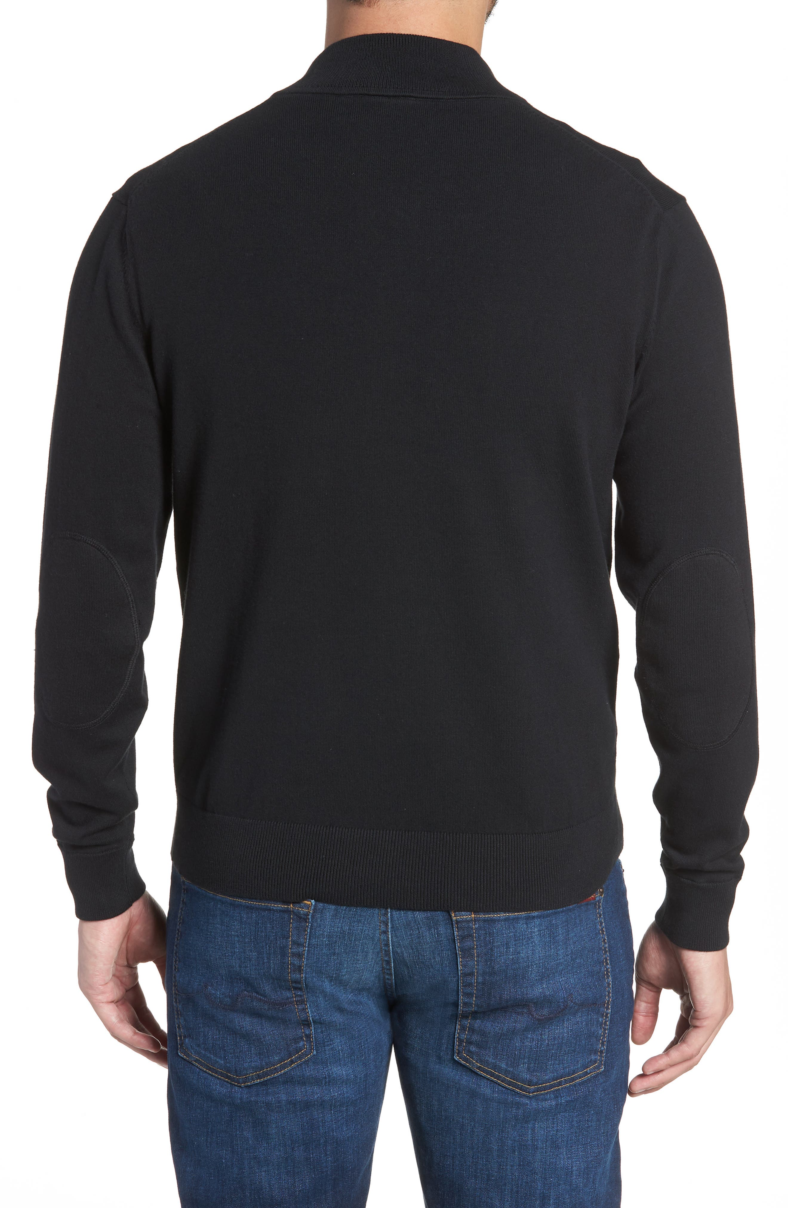 Cleveland Browns - Lakemont Regular Fit Quarter Zip Sweater,                             Alternate thumbnail 2, color,                             BLACK