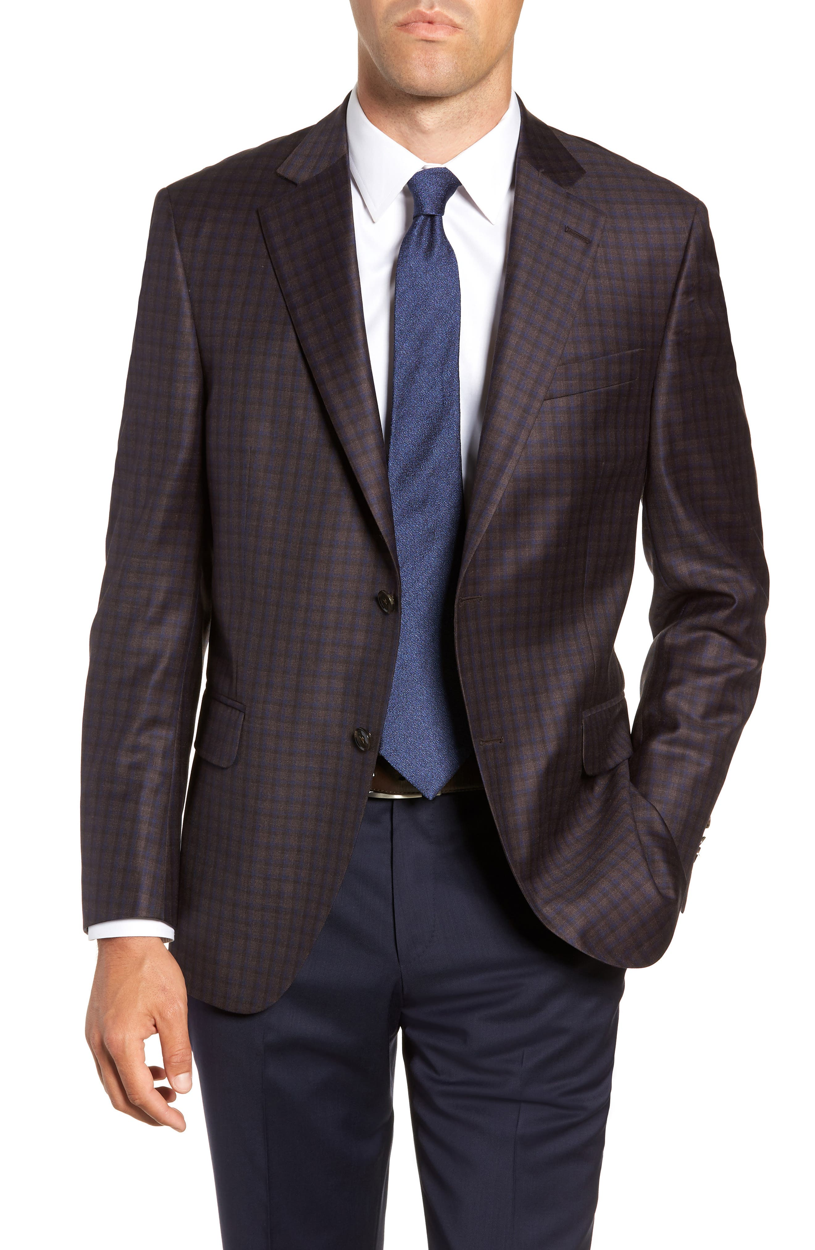 Flynn Classic Fit Wool Sport Coat,                         Main,                         color, BROWN