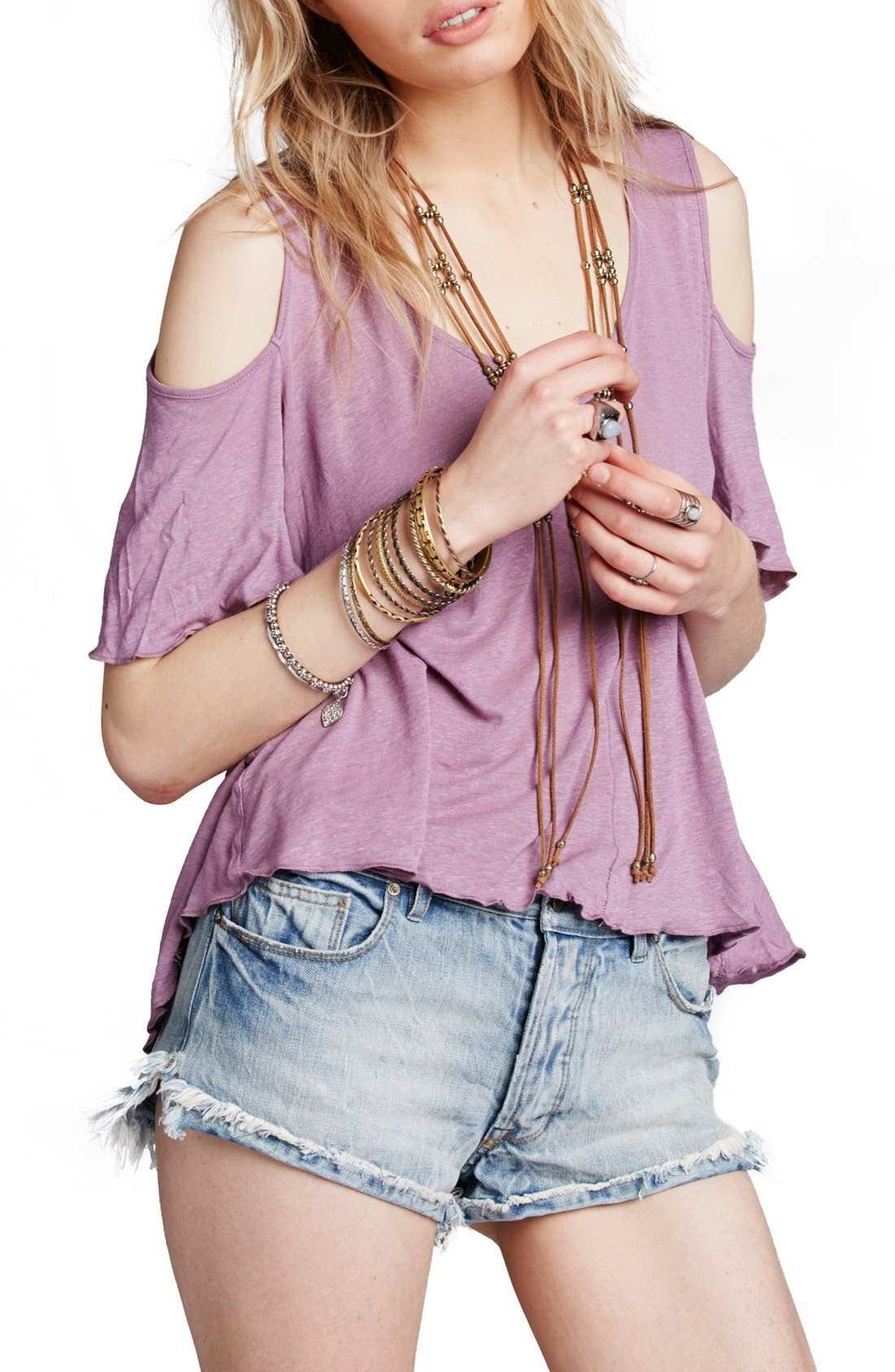 Bittersweet Cold Shoulder Top,                             Main thumbnail 6, color,