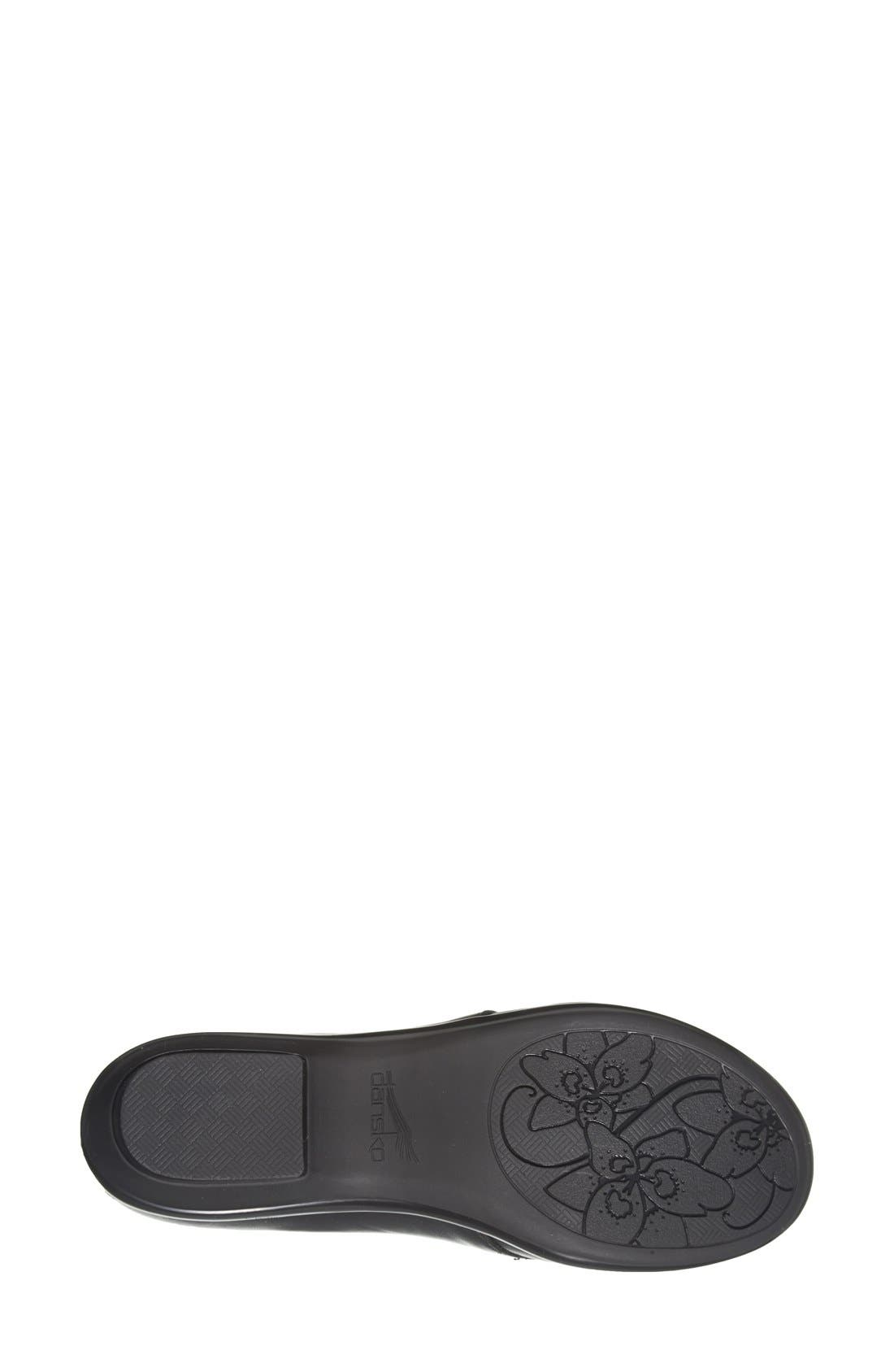'Olive' Lace-Up Flat,                             Alternate thumbnail 5, color,                             001