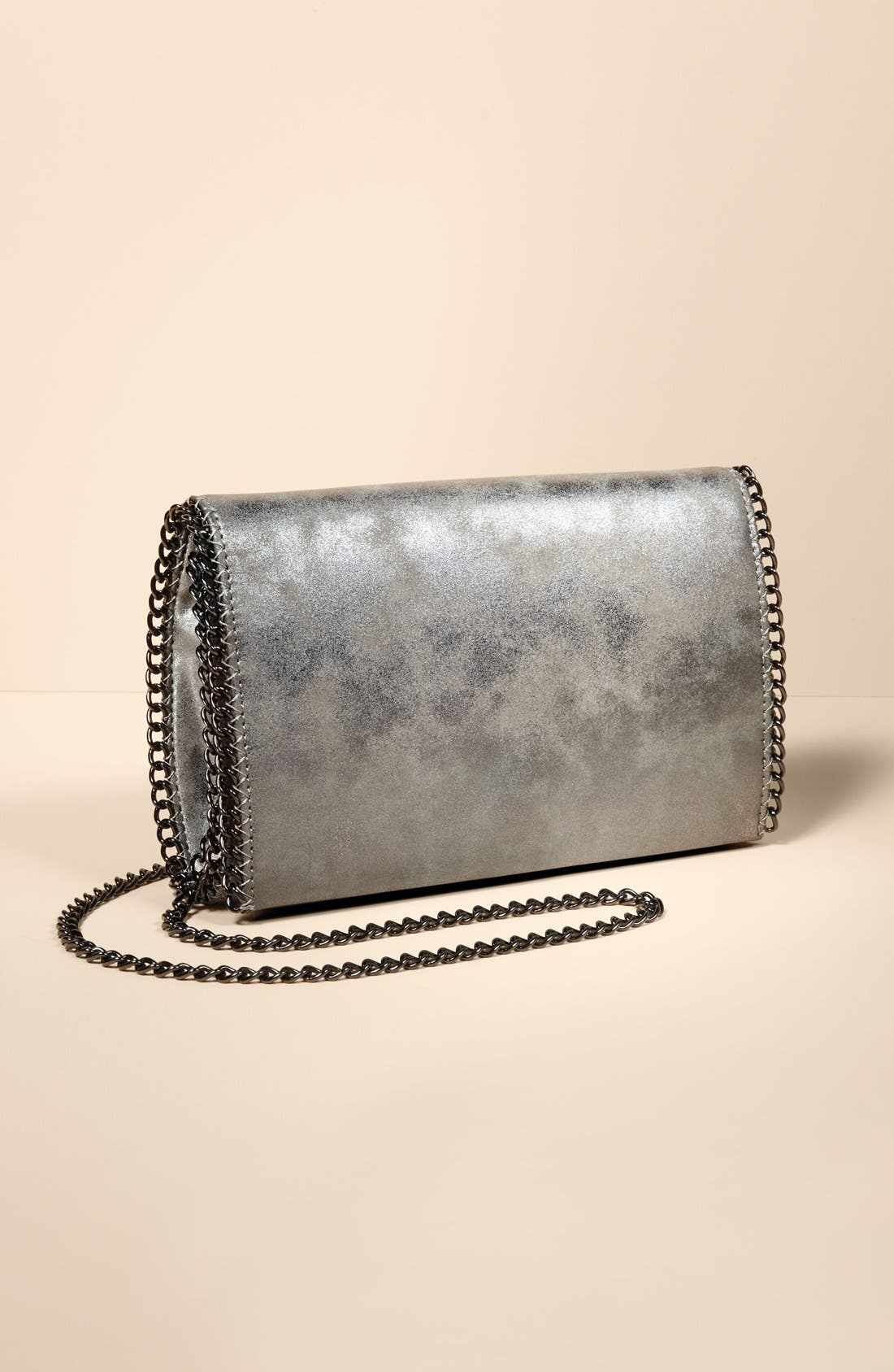 Faux Leather Crossbody Clutch, Main, color, 043