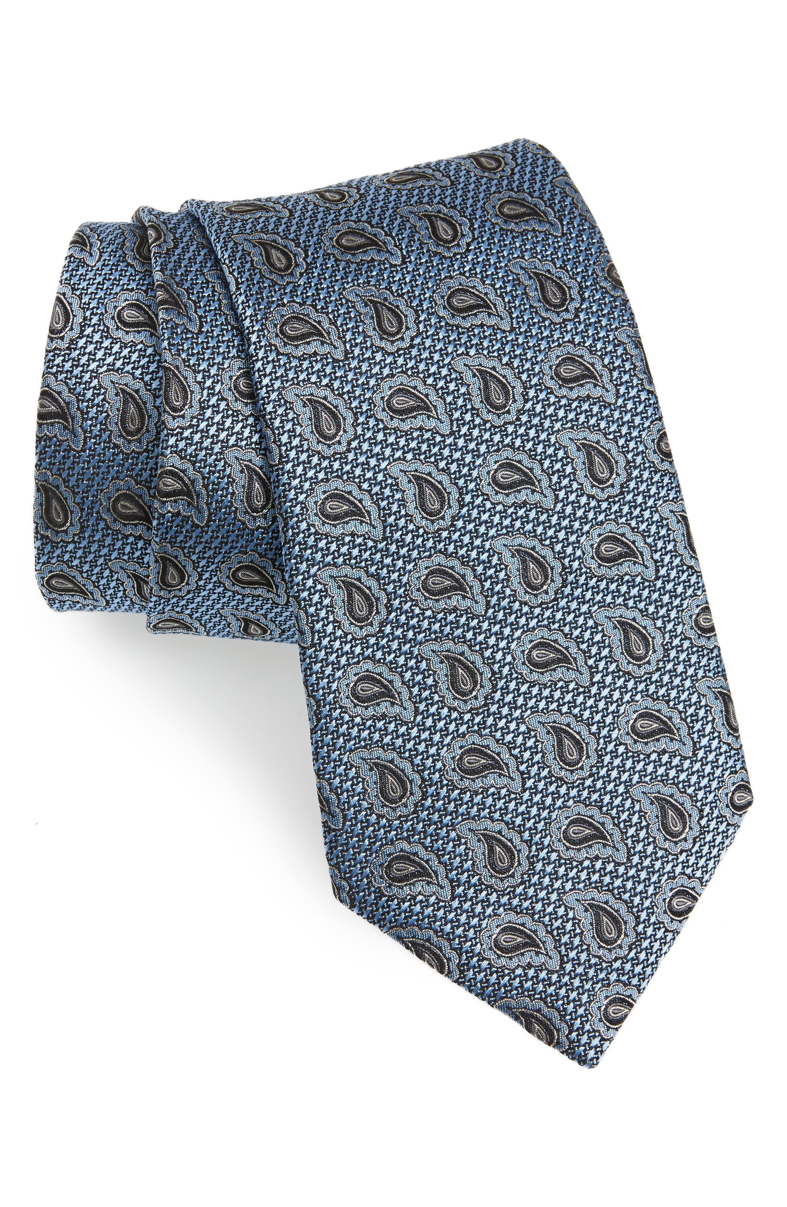 Paisley Silk Tie,                             Main thumbnail 1, color,                             438