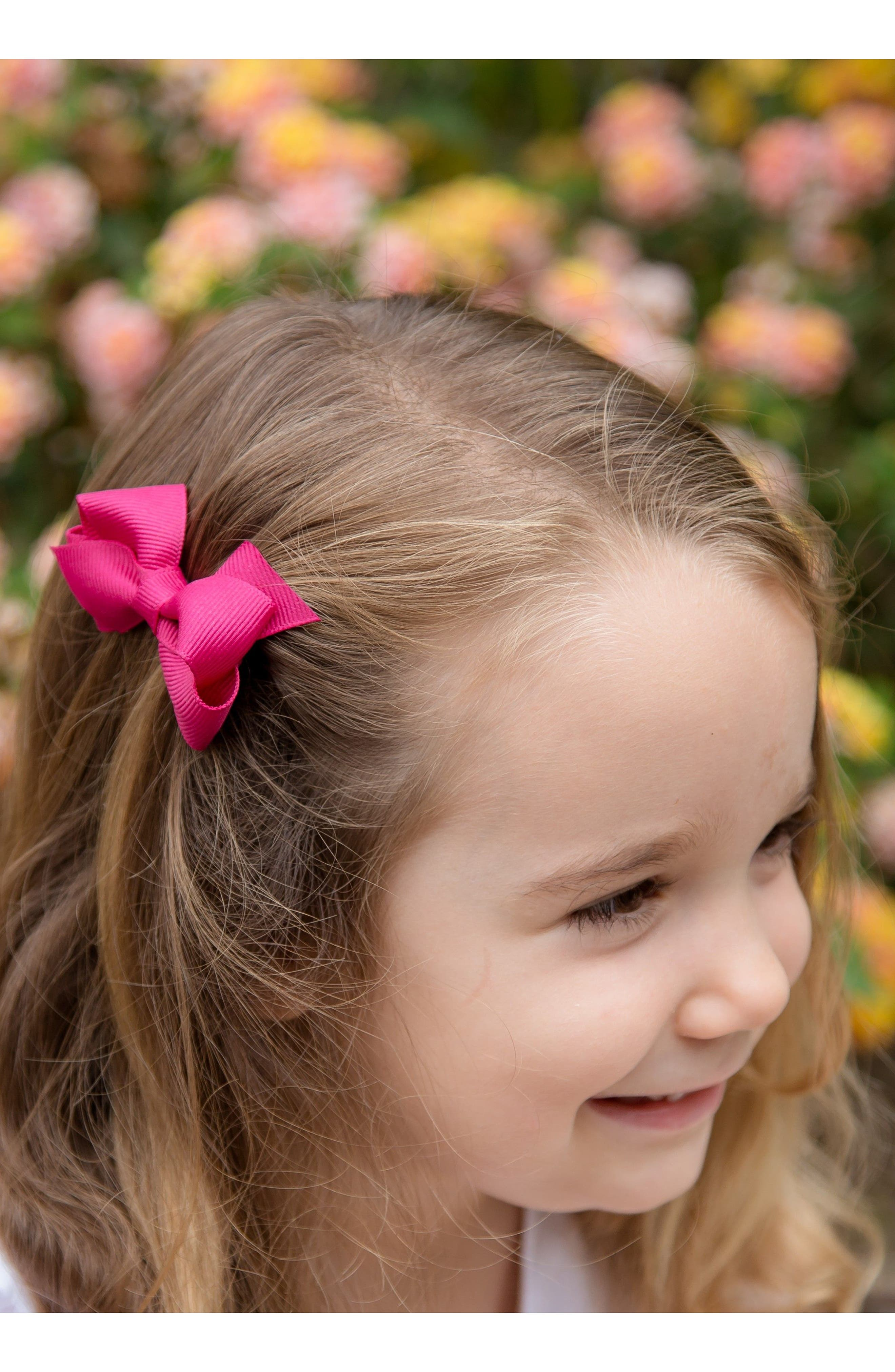 Set of 3 Wee Bow Hair Clips,                             Alternate thumbnail 2, color,                             300