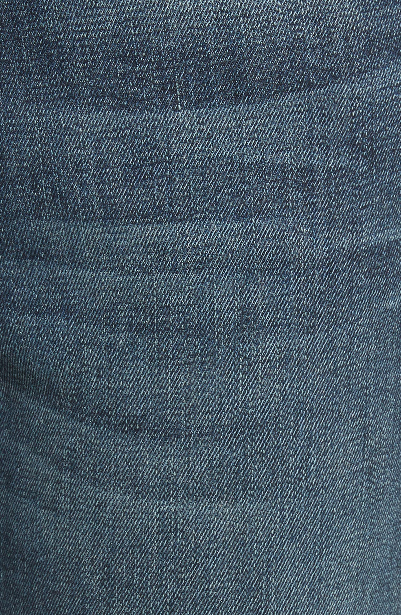 Le High Slit Ankle Skinny Jeans,                             Alternate thumbnail 5, color,