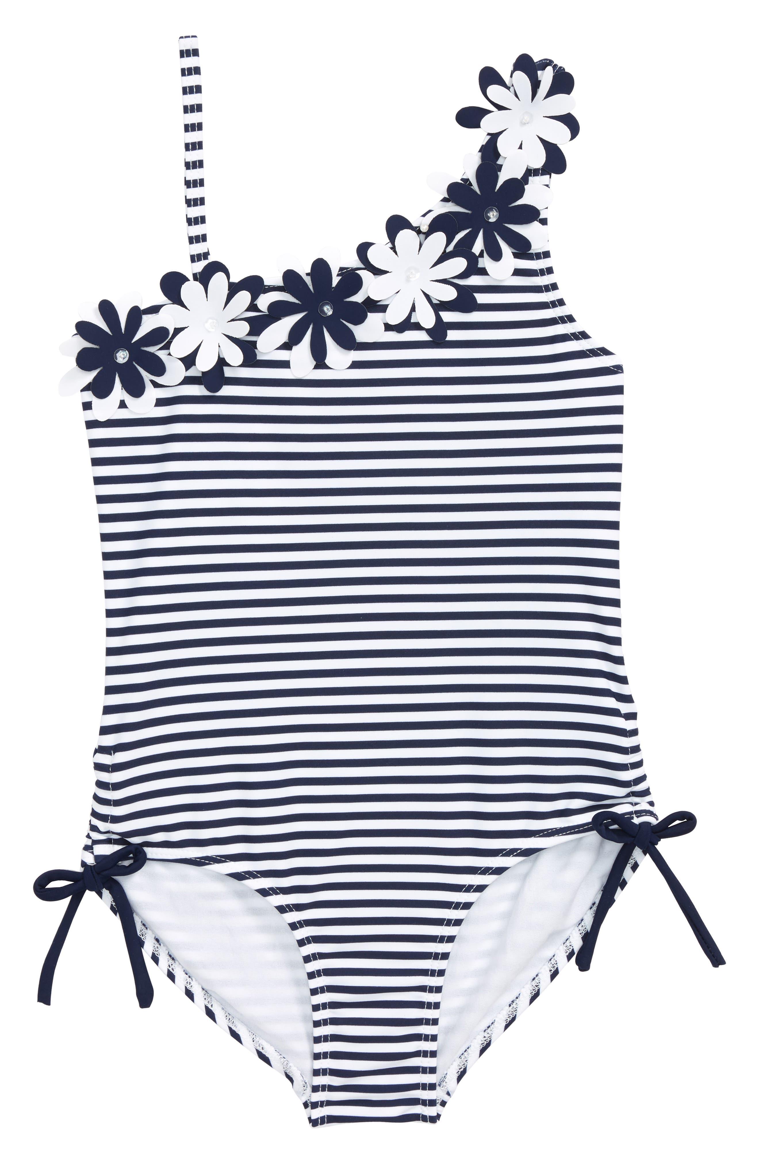 Stripe One-Piece Swimsuit,                         Main,                         color, 101