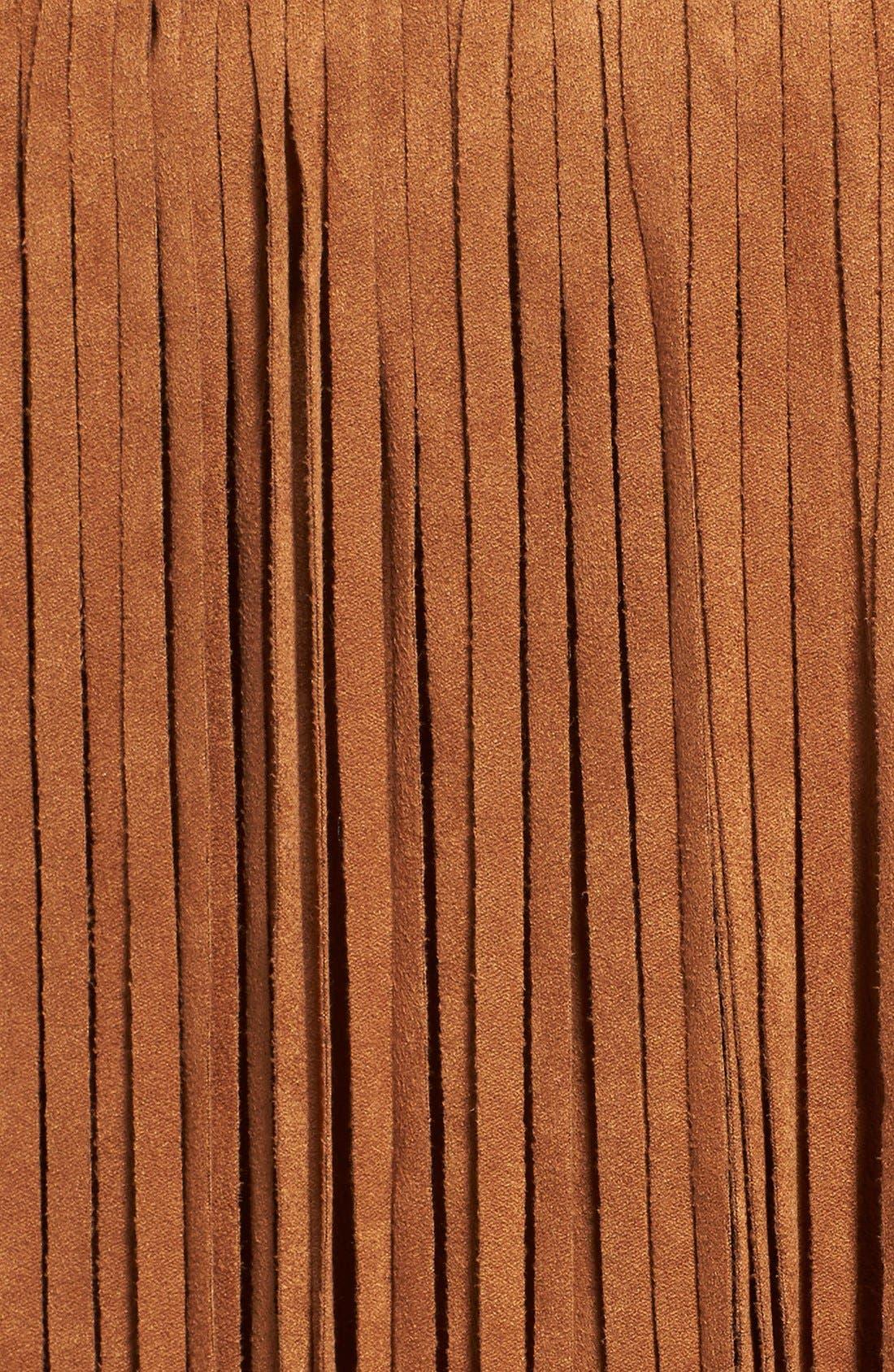 Fringe FauxSuede Skirt,                             Alternate thumbnail 5, color,                             216