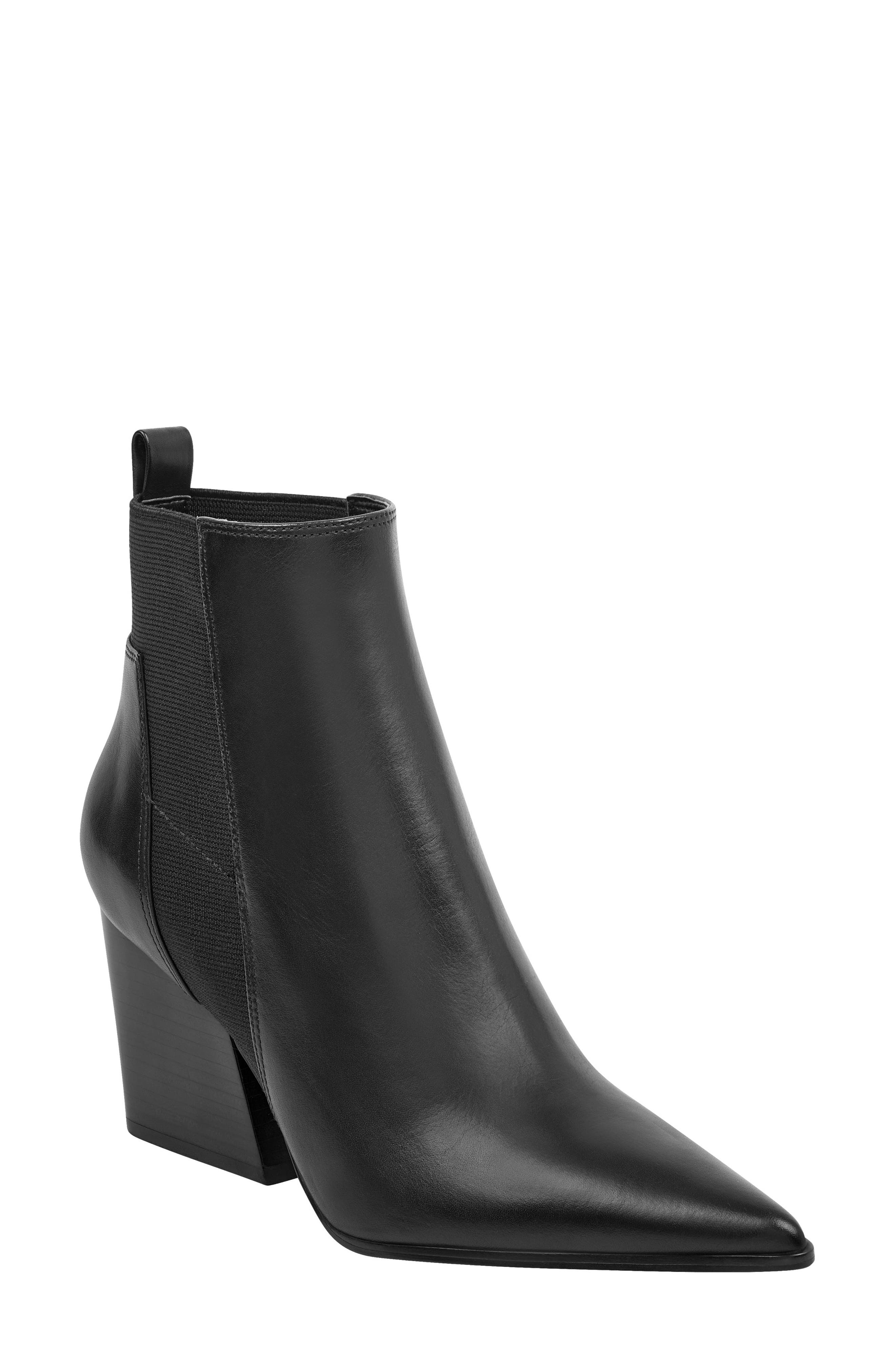 Pointy Toe Chelsea Bootie,                             Main thumbnail 1, color,                             001