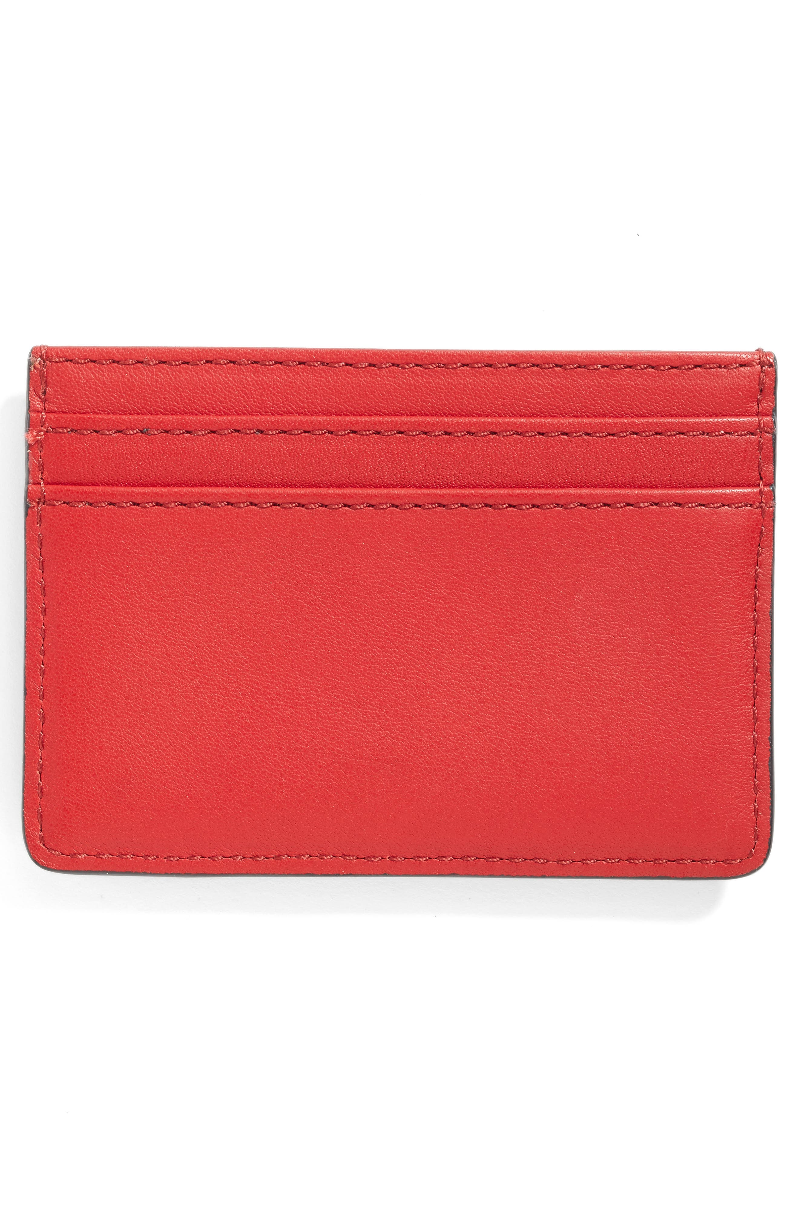 Rooster Leather Card Case,                             Alternate thumbnail 3, color,                             647