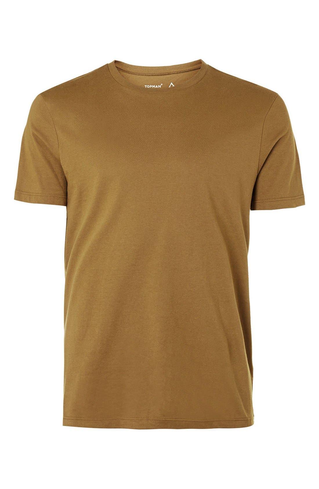 Slim Fit Crewneck T-Shirt,                             Alternate thumbnail 399, color,