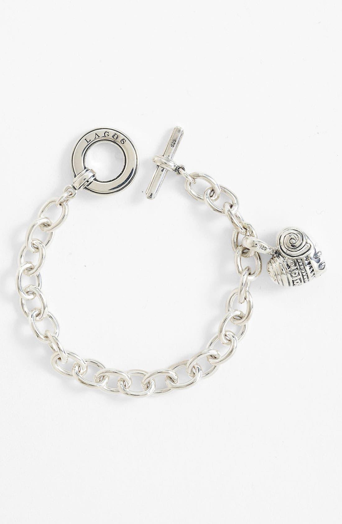 'Hearts of LAGOS' Charm Bracelet,                             Alternate thumbnail 3, color,