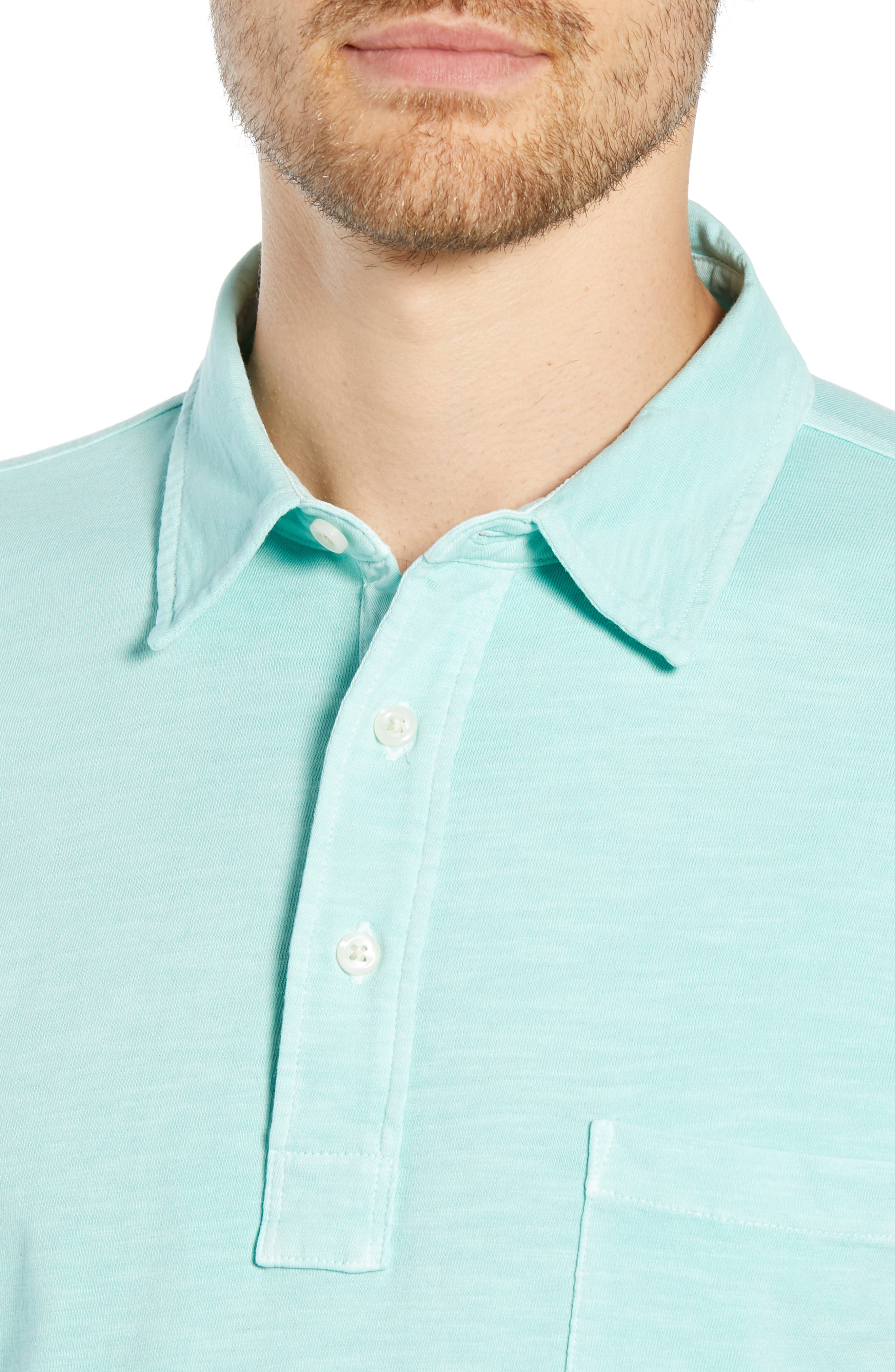 Sunwashed Polo,                             Alternate thumbnail 4, color,                             WATER BLUE