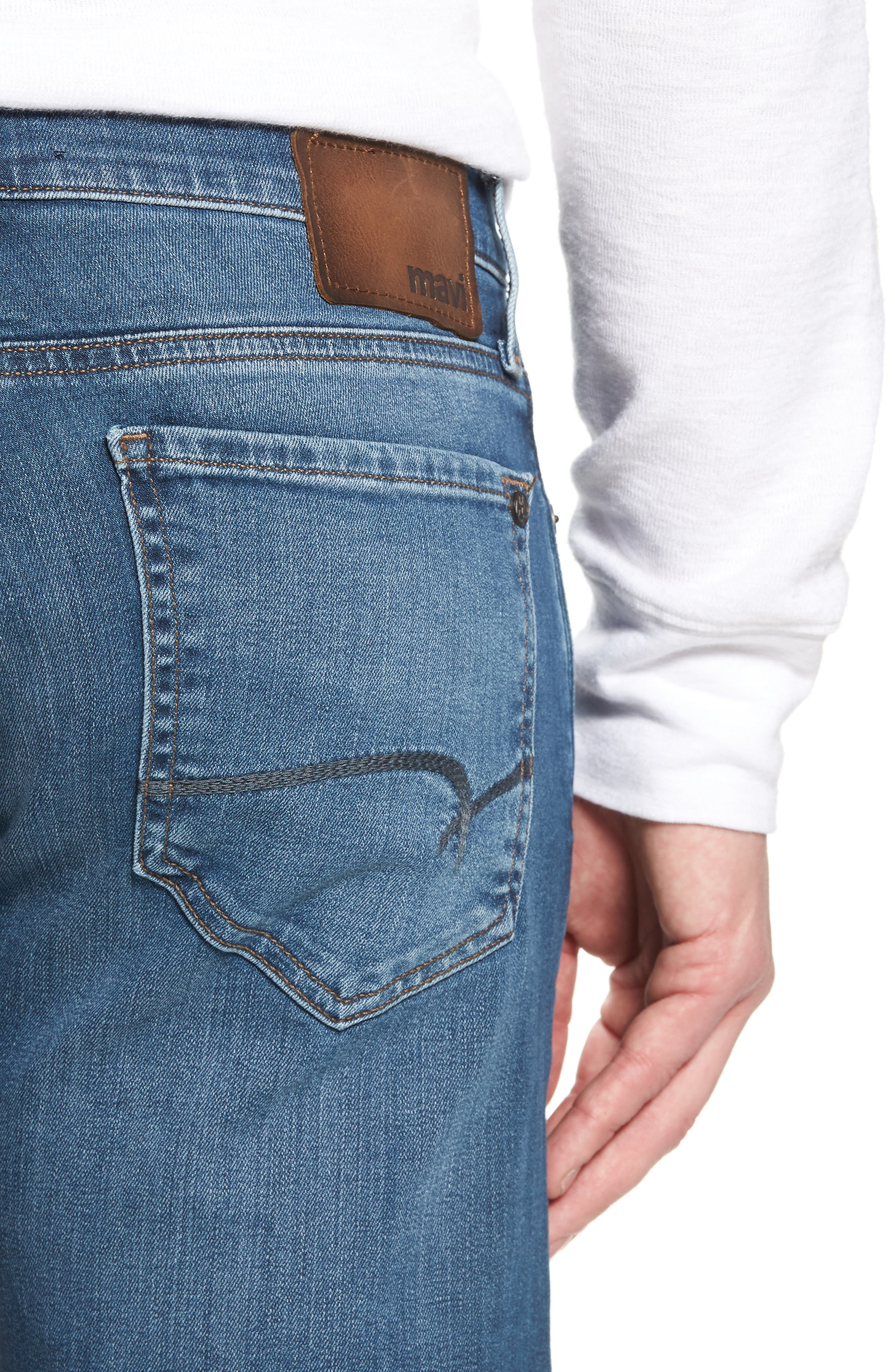 Zach Straight Fit Jeans,                             Alternate thumbnail 4, color,