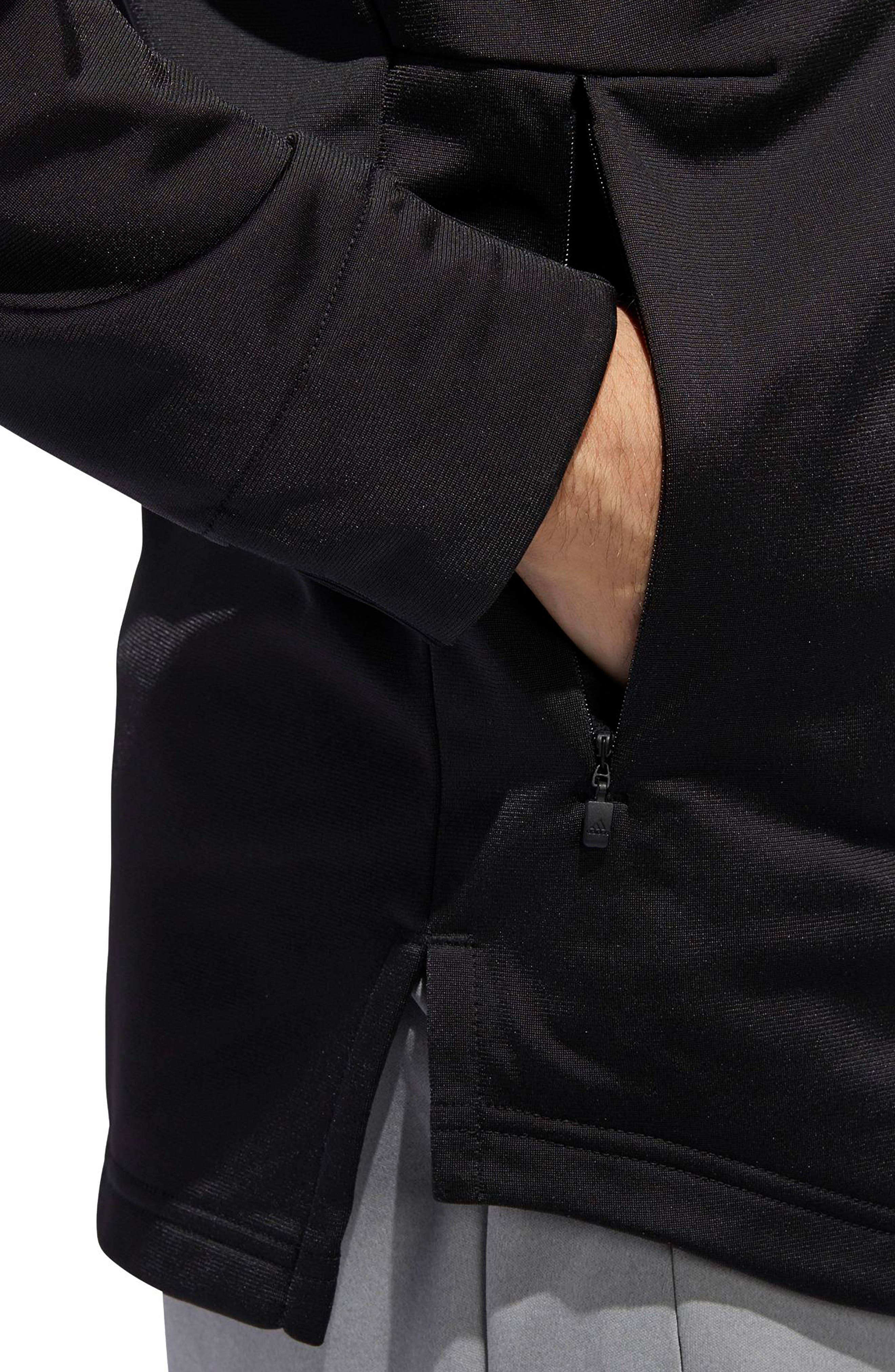 ID Tricot Bomber Jacket,                             Alternate thumbnail 4, color,                             BLACK