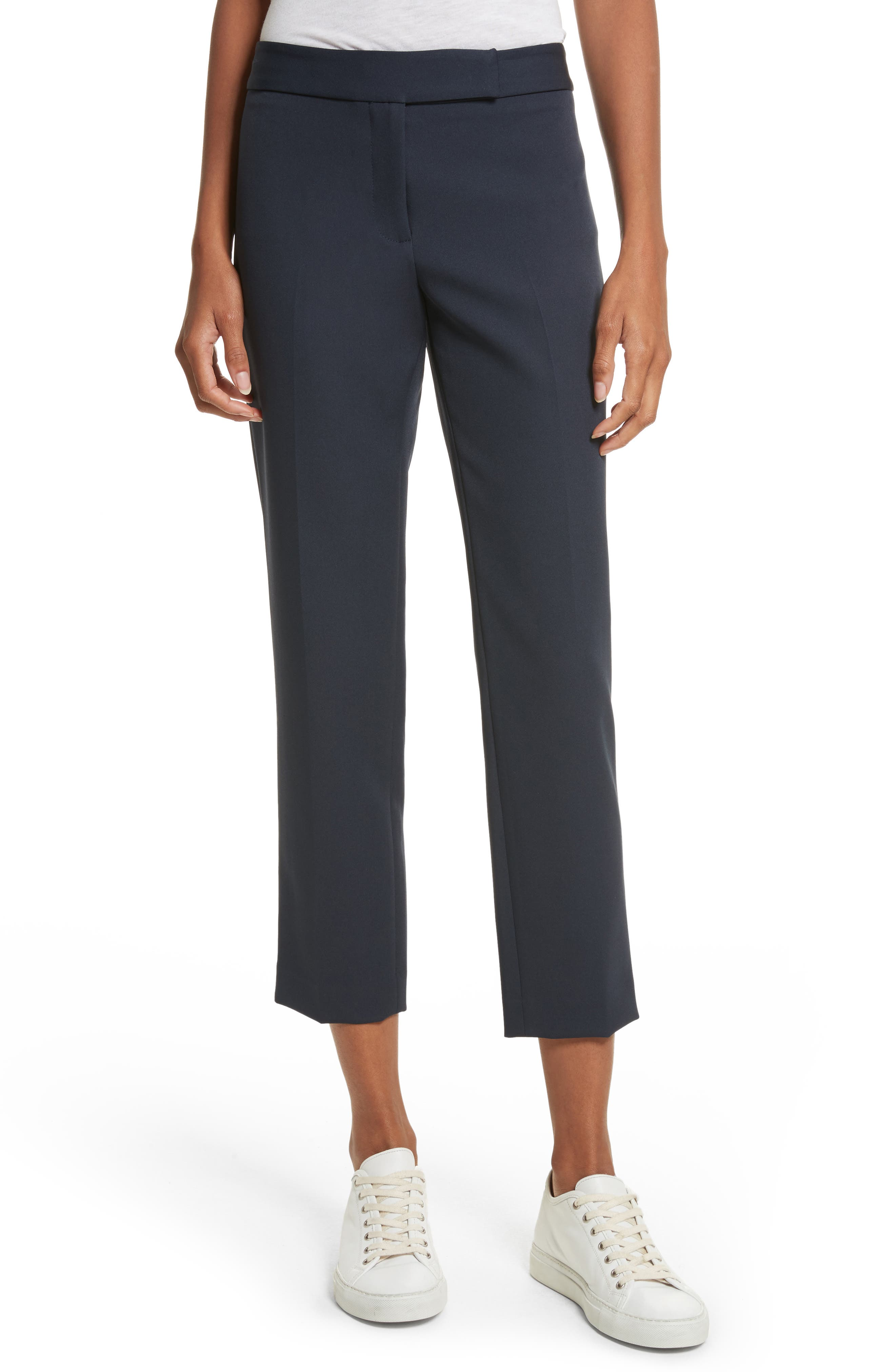 Stretch Crepe Cigarette Pants,                         Main,                         color, 410