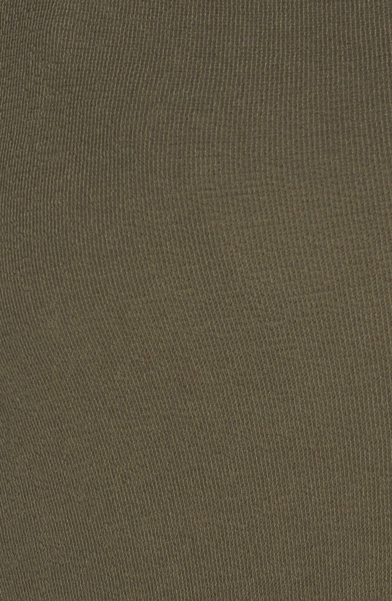 Knit Moto Jacket,                             Alternate thumbnail 7, color,                             OLIVE SARMA