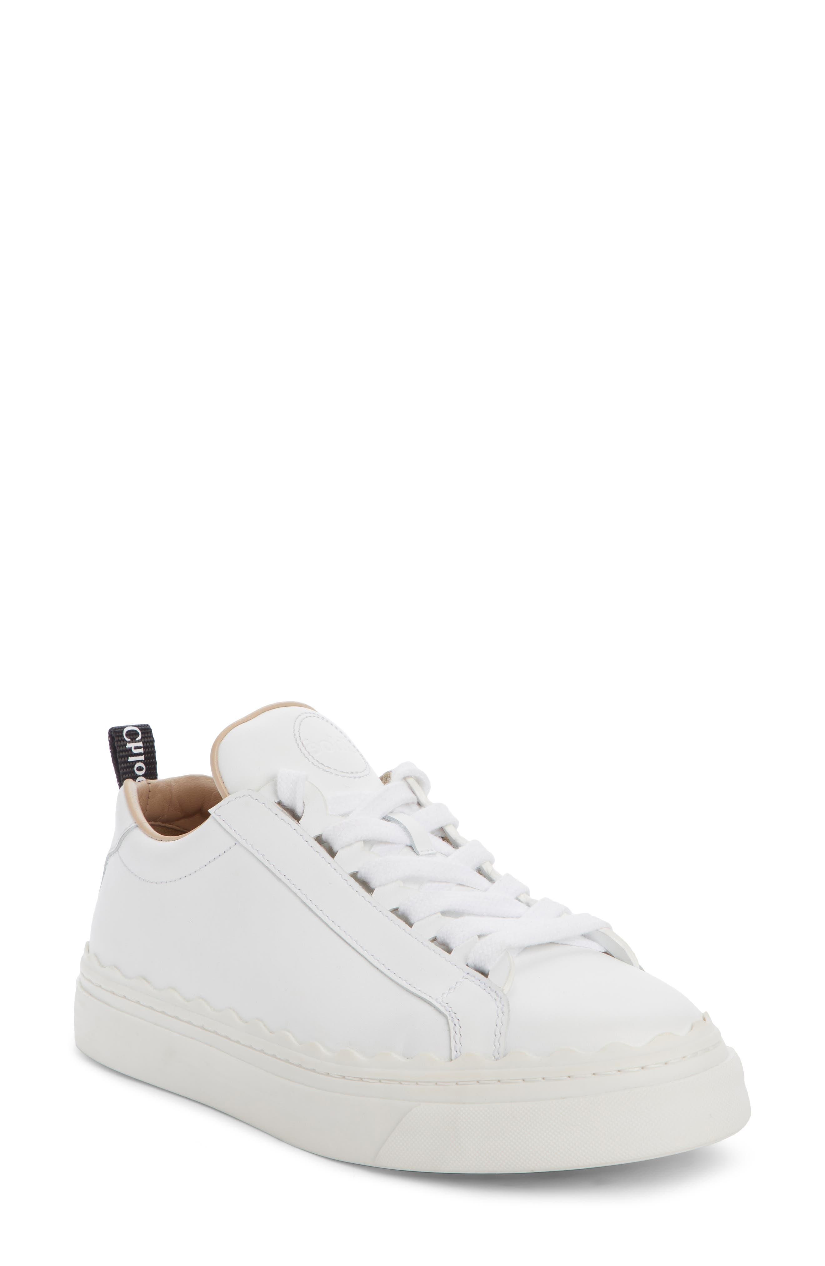 Lauren Sneaker,                             Main thumbnail 1, color,                             WHITE LEATHER