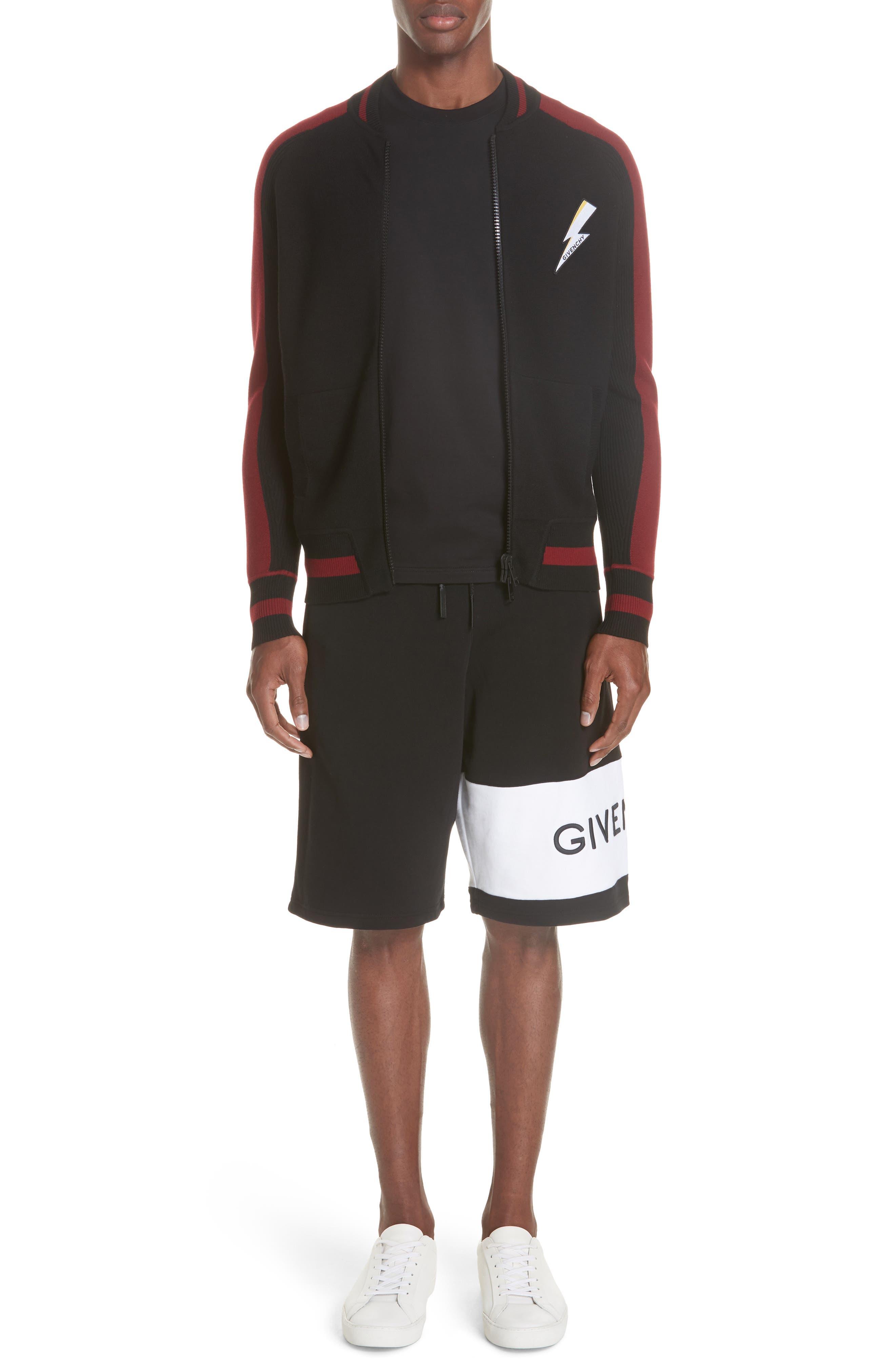 Knit Bermuda Shorts,                             Alternate thumbnail 7, color,                             BLACK