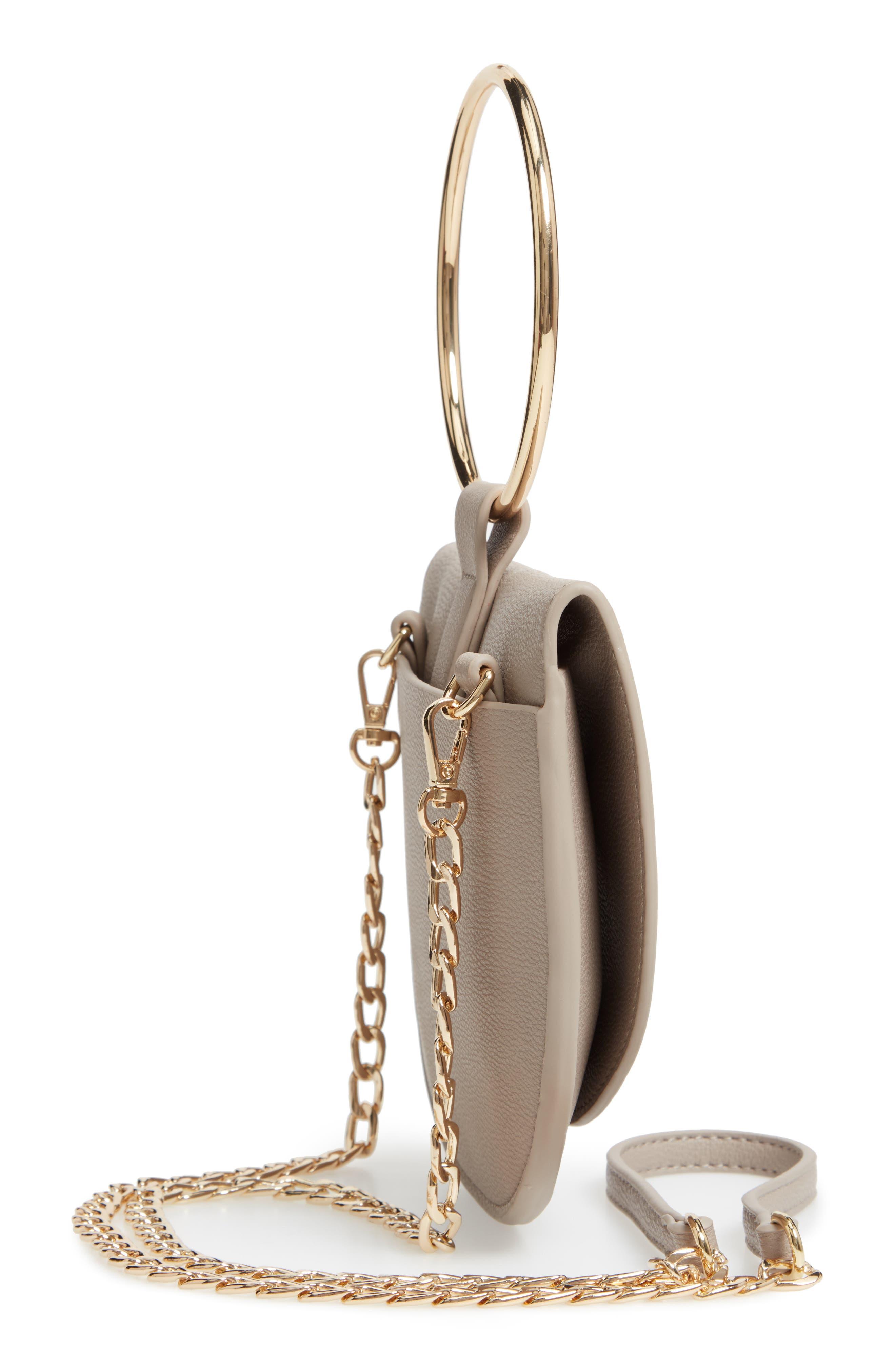 Reese Ring Crossbody Bag,                             Alternate thumbnail 5, color,                             GREY FLINT