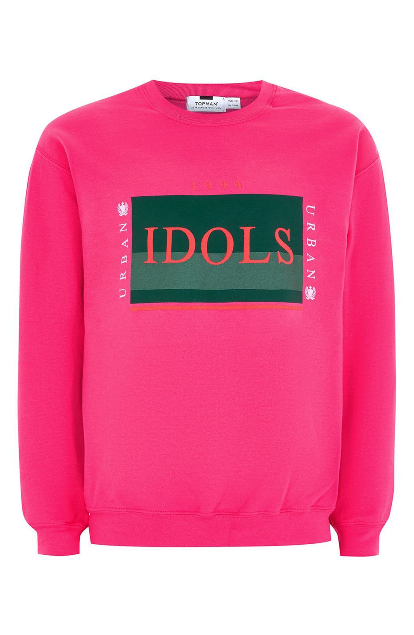 Urban Idols Graphic Sweatshirt,                             Alternate thumbnail 4, color,                             650