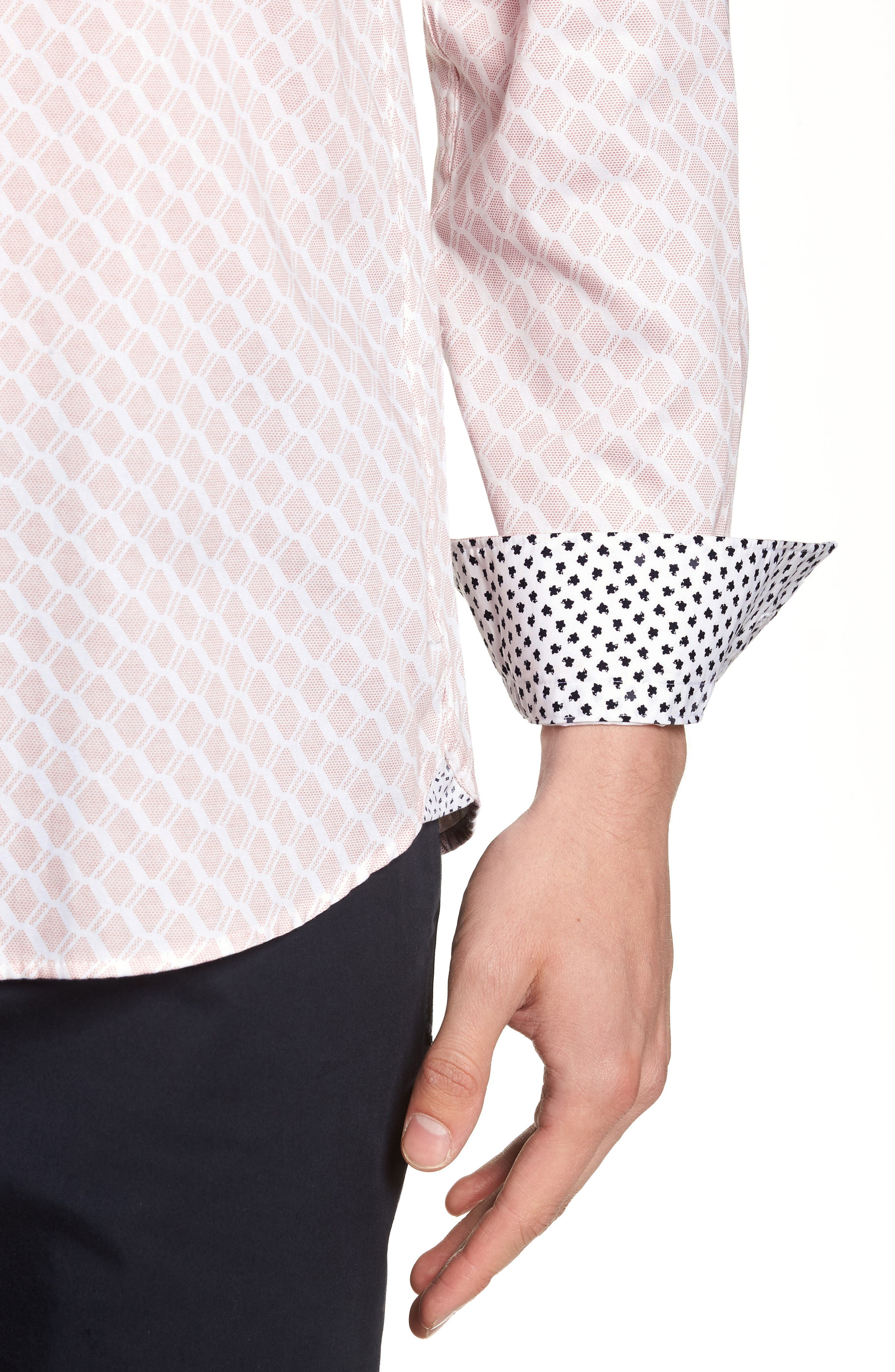 Pimlitt Geometric Pattern Sport Shirt,                             Alternate thumbnail 2, color,                             PINK