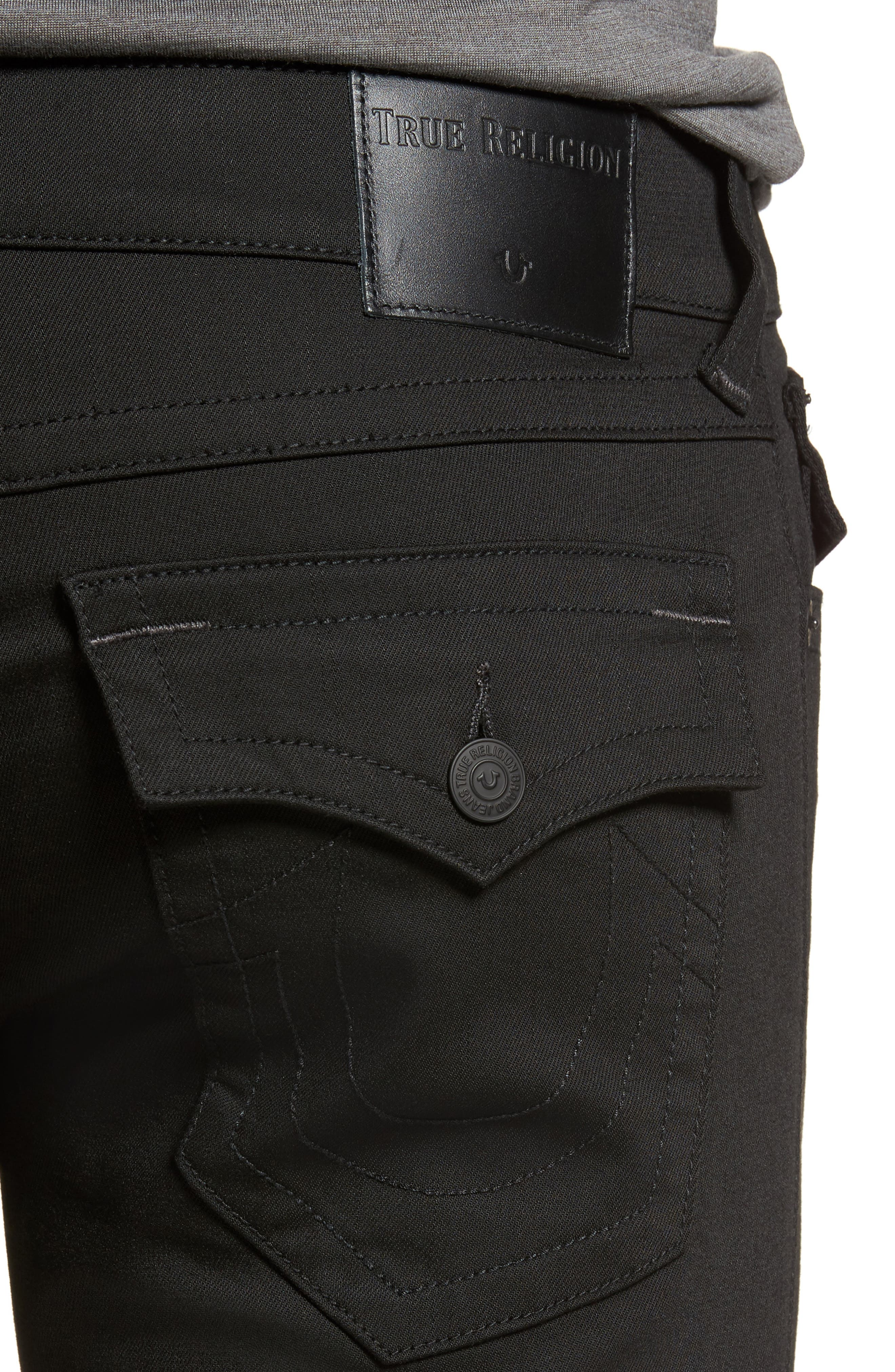 Geno Straight Fit Jeans,                             Alternate thumbnail 4, color,                             NIGHTFALL
