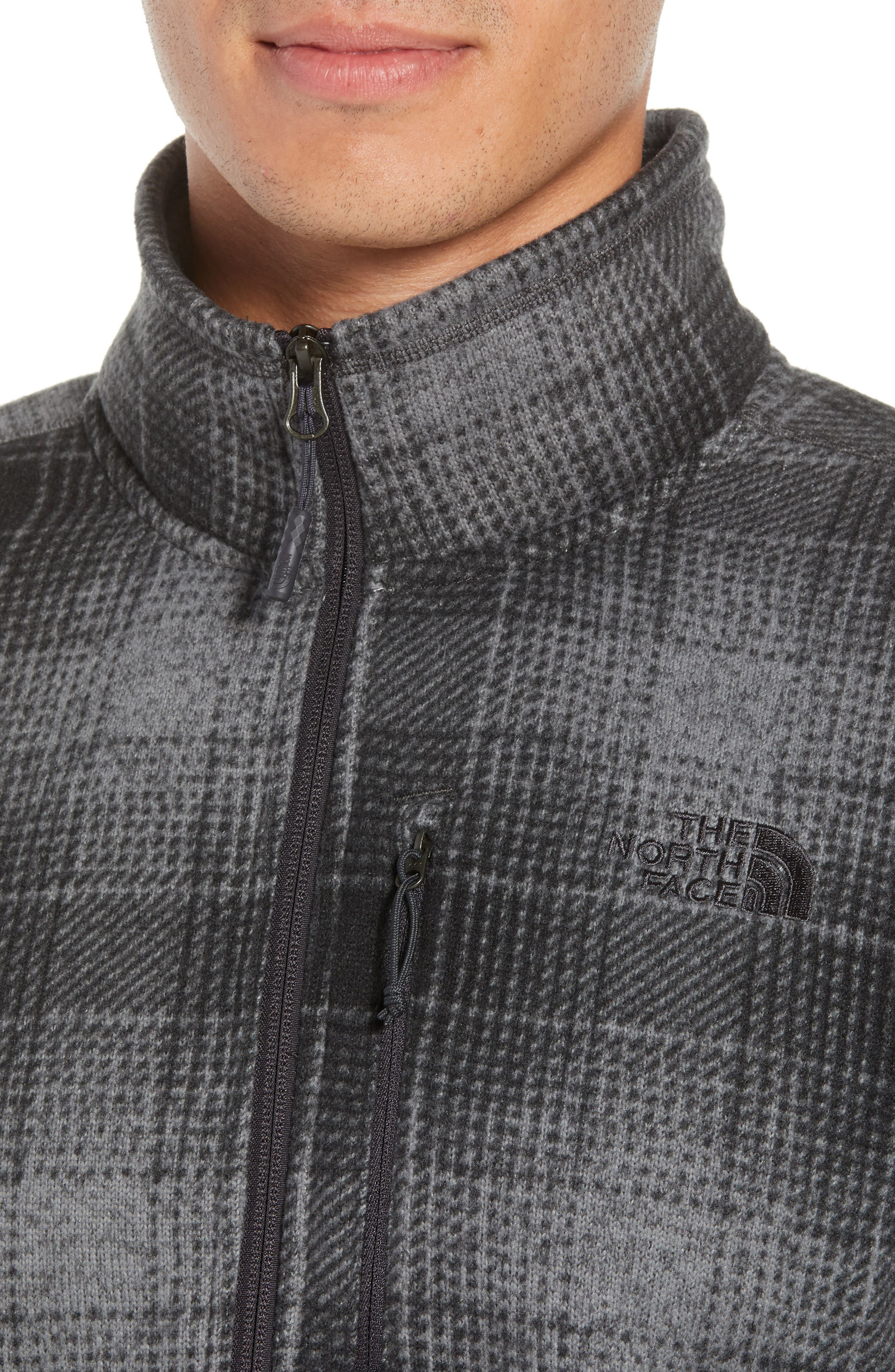 Novelty Gordon Lyons Plaid Pullover,                             Alternate thumbnail 4, color,                             MONUMENT GREY OMBRE PLAID