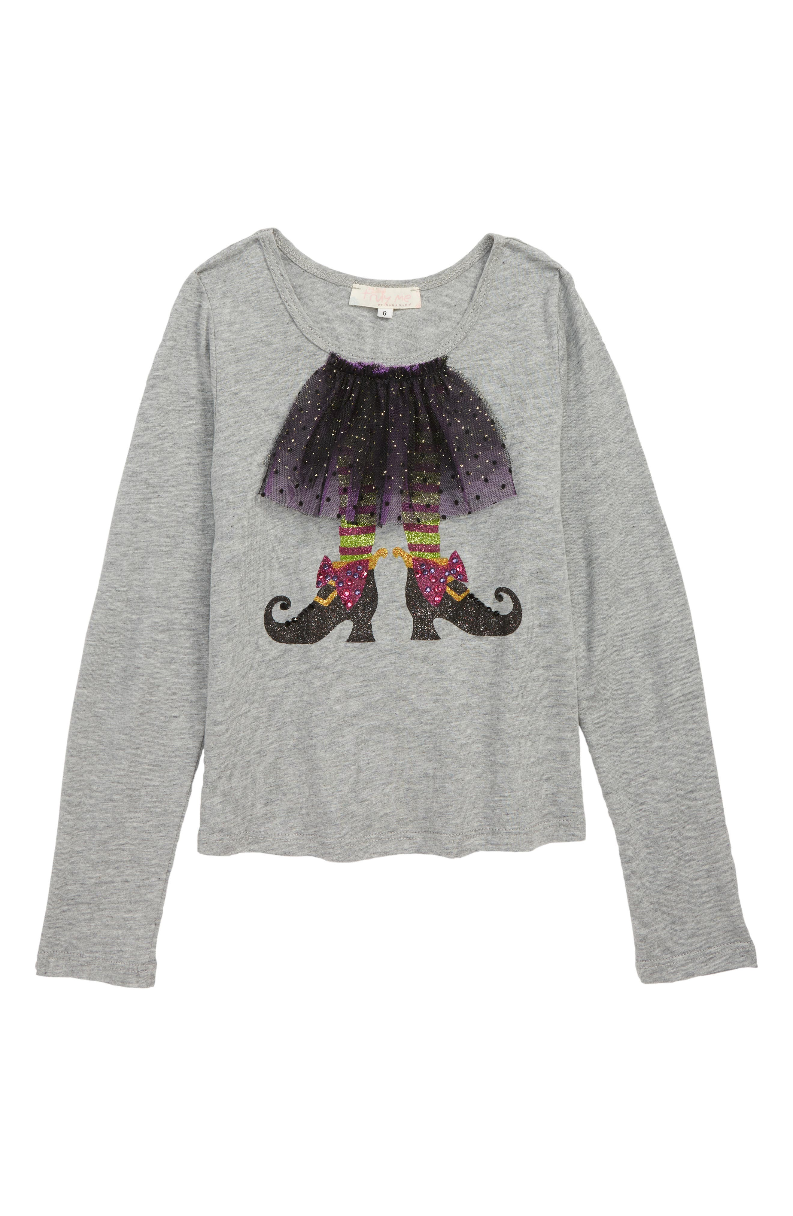 Tutu Witch Tee,                             Main thumbnail 1, color,                             GREY