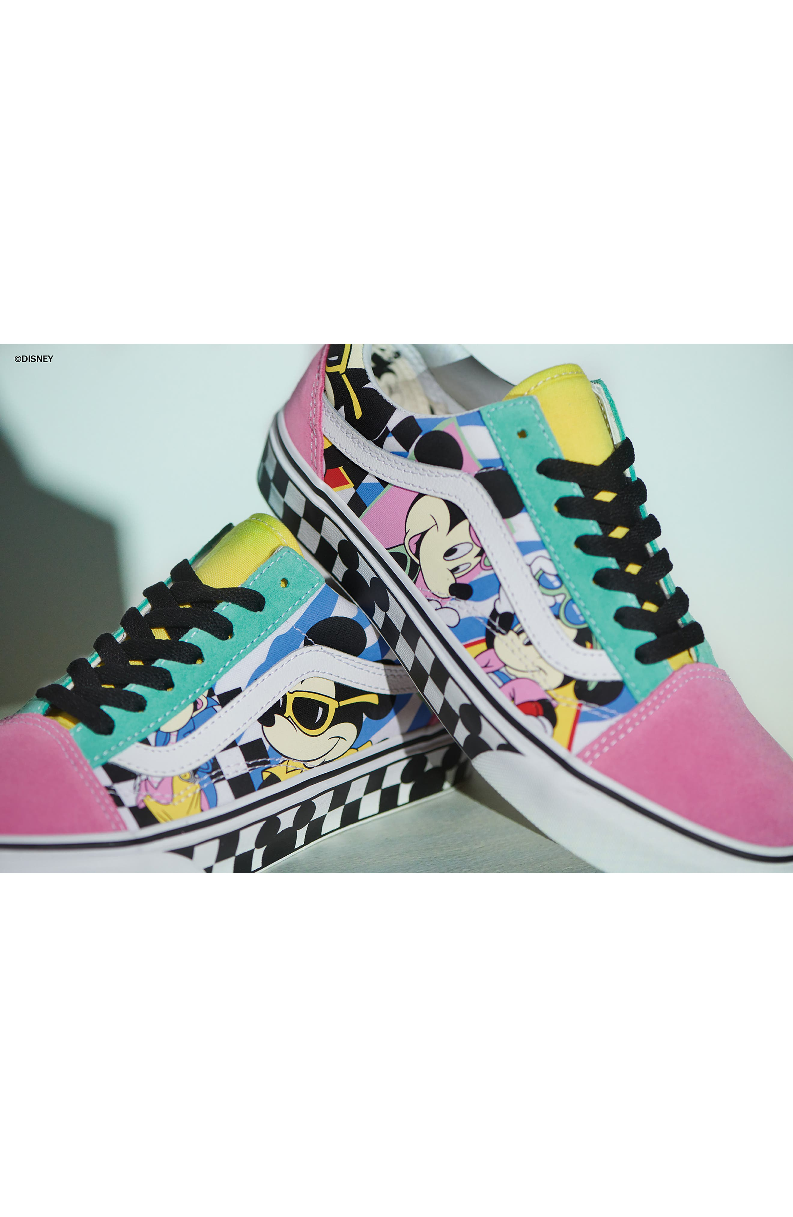 x Disney Old Skool Sneaker,                             Alternate thumbnail 3, color,                             DISNEY 80S MICKEY/ TRUE WHITE