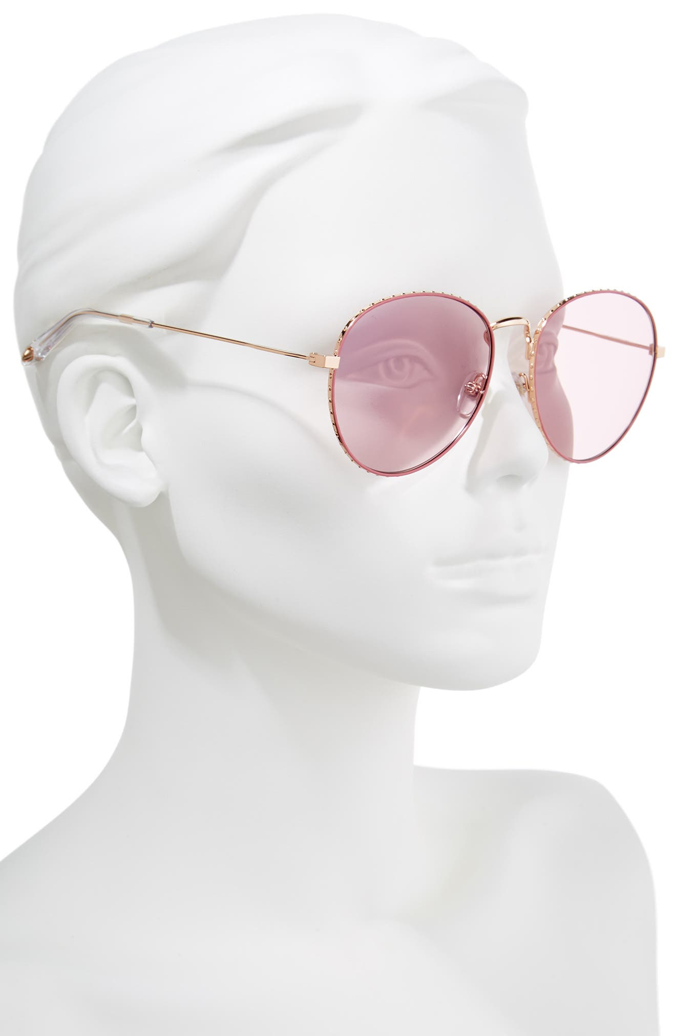60mm Round Metal Sunglasses,                             Alternate thumbnail 2, color,                             710