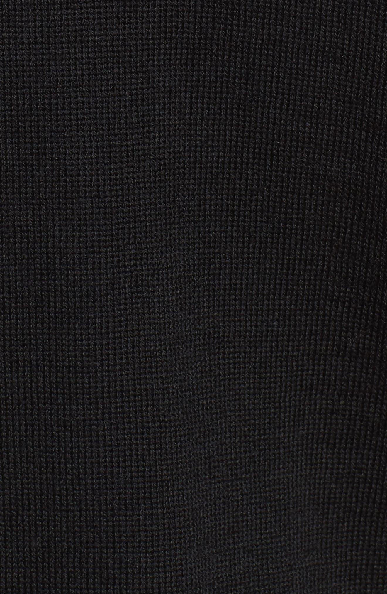 McLeod V-Neck Regular Fit Merino Wool Sweater,                             Alternate thumbnail 5, color,                             BLACK