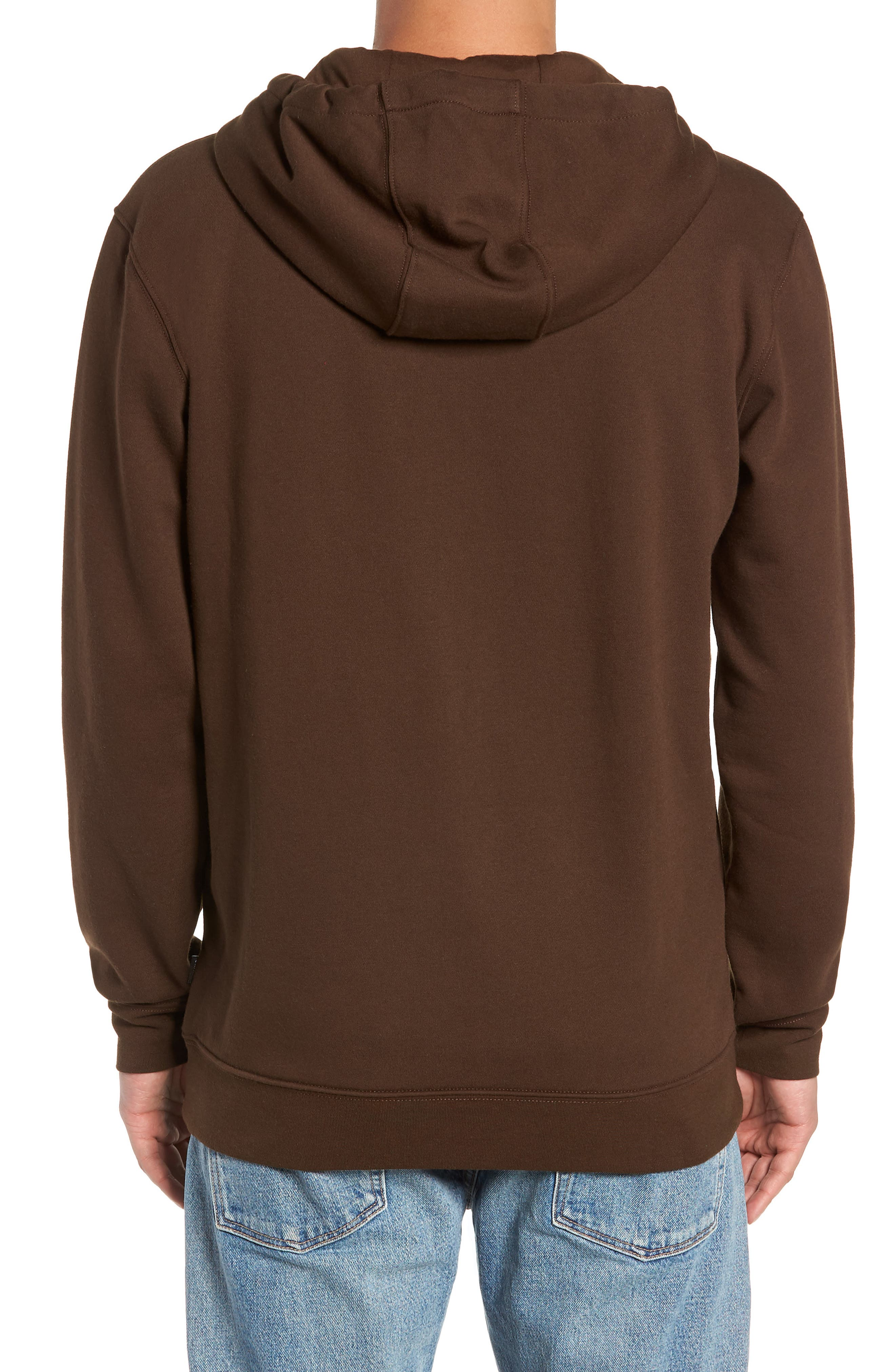 Easy Box Embroidered Hooded Sweatshirt,                             Alternate thumbnail 2, color,                             DEMITASSE