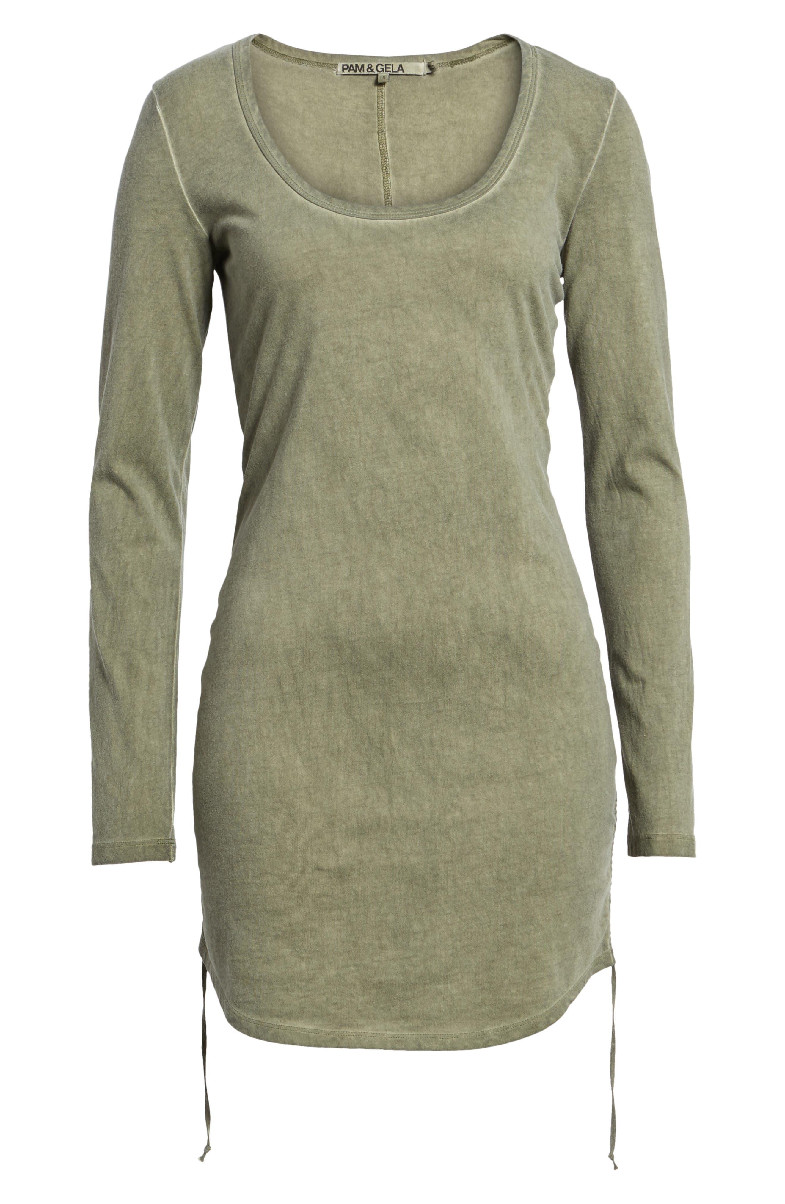 Scoop Neck Body-Con Dress,                             Alternate thumbnail 6, color,                             304