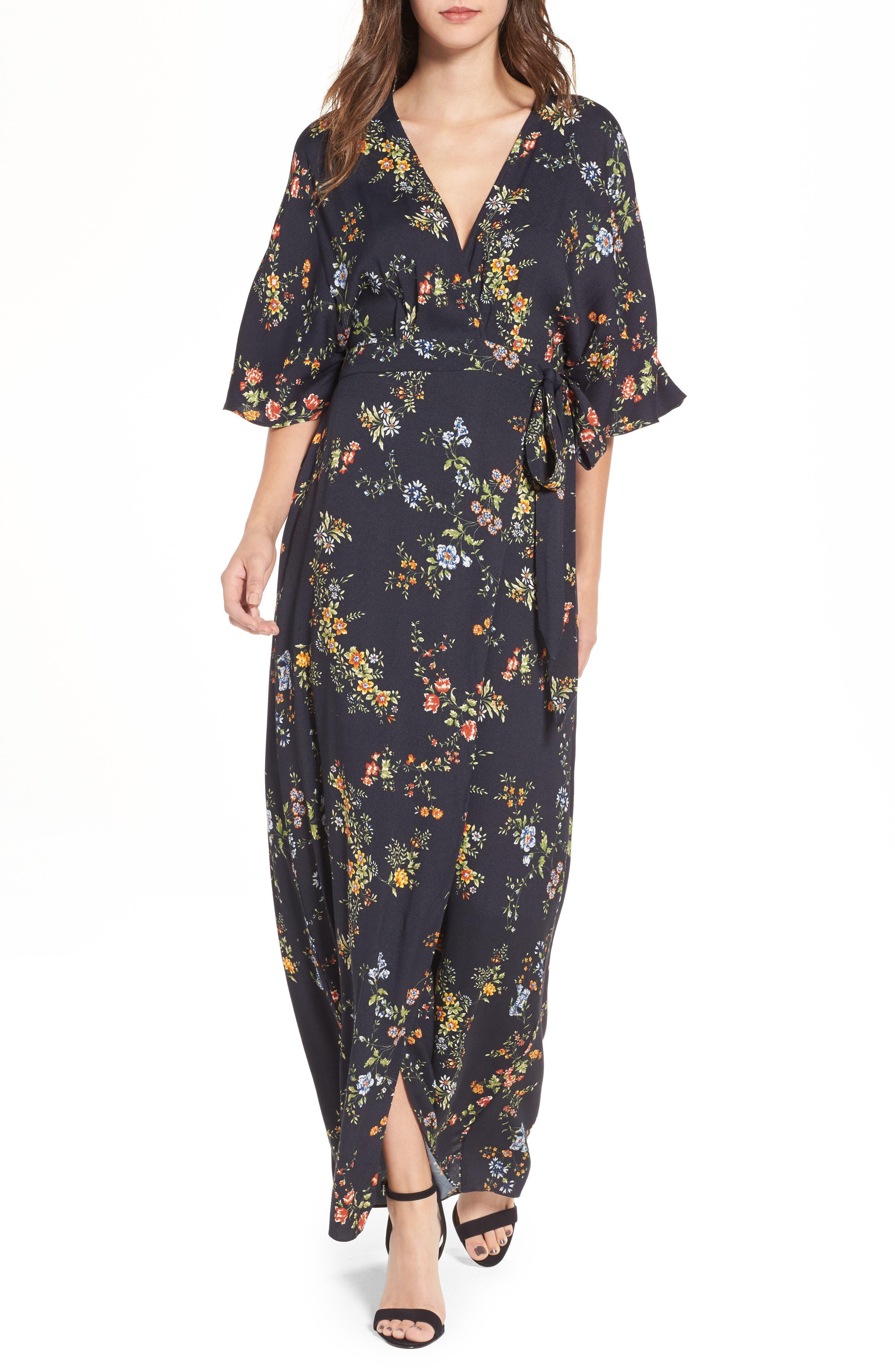 AFRM,                             Monroe Wrap Dress,                             Main thumbnail 1, color,                             001