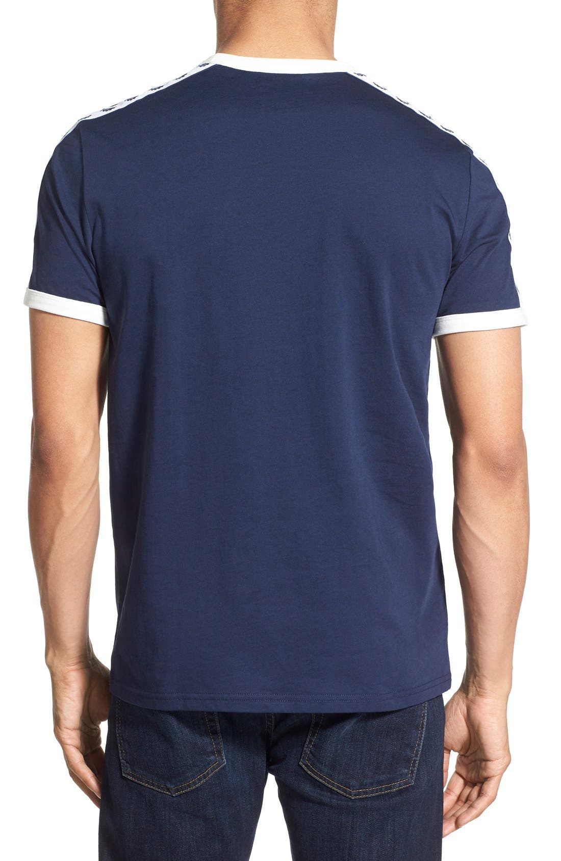 Extra Trim Fit Cotton Ringer T-Shirt,                             Alternate thumbnail 13, color,