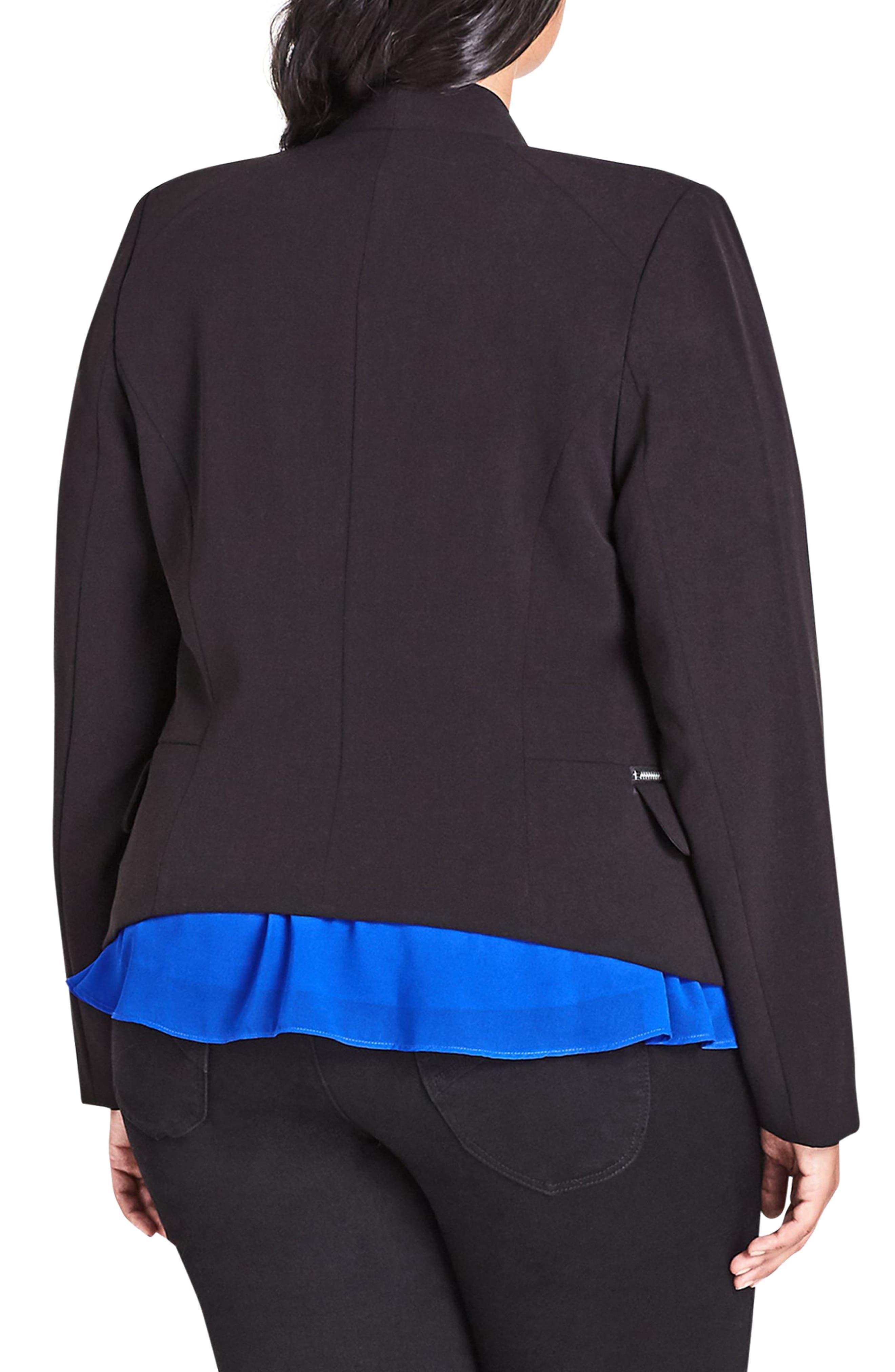 Elegance Fitted Jacket,                             Alternate thumbnail 2, color,                             001