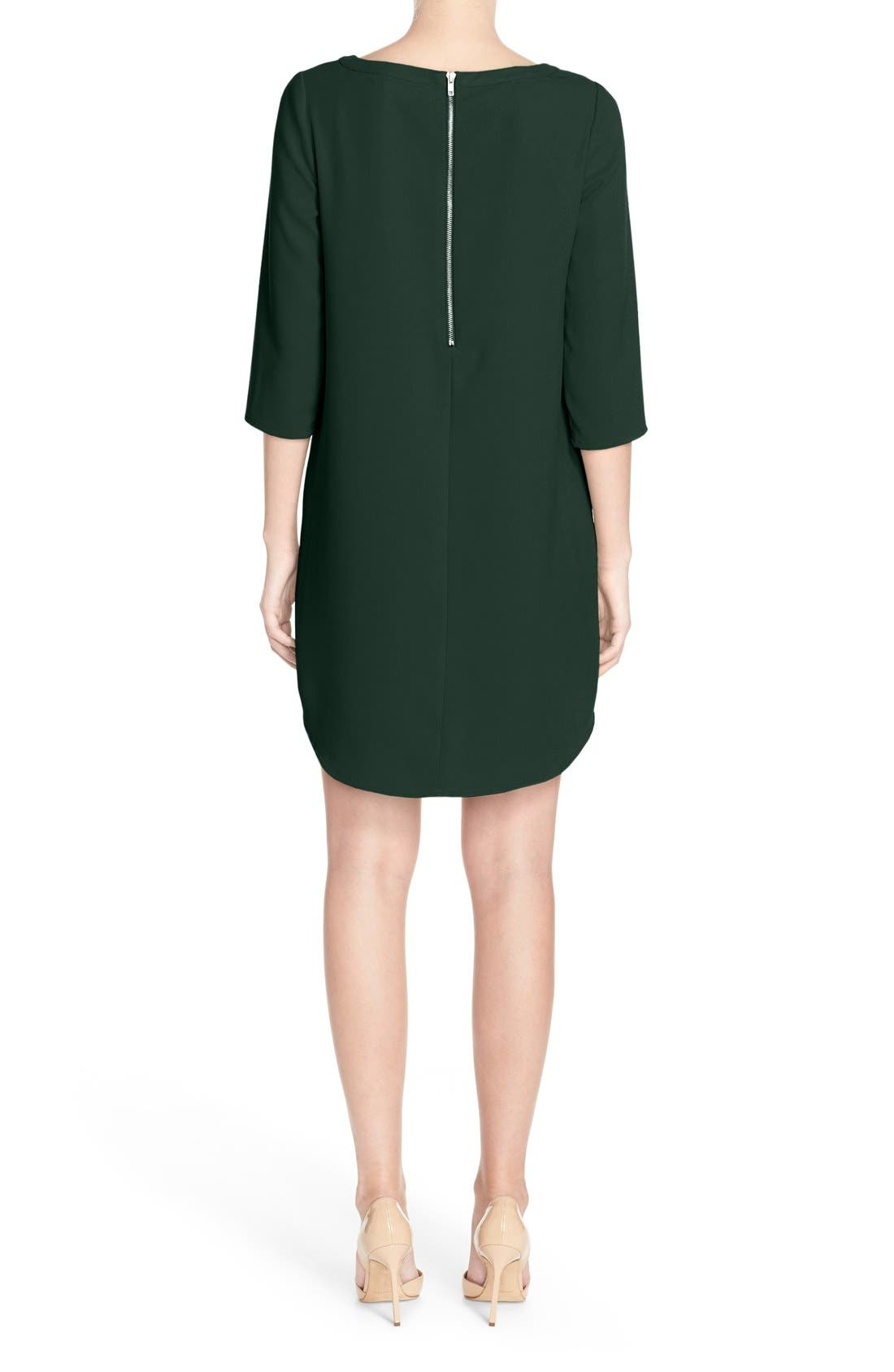'Jazlyn' Crepe Shift Dress,                             Alternate thumbnail 11, color,