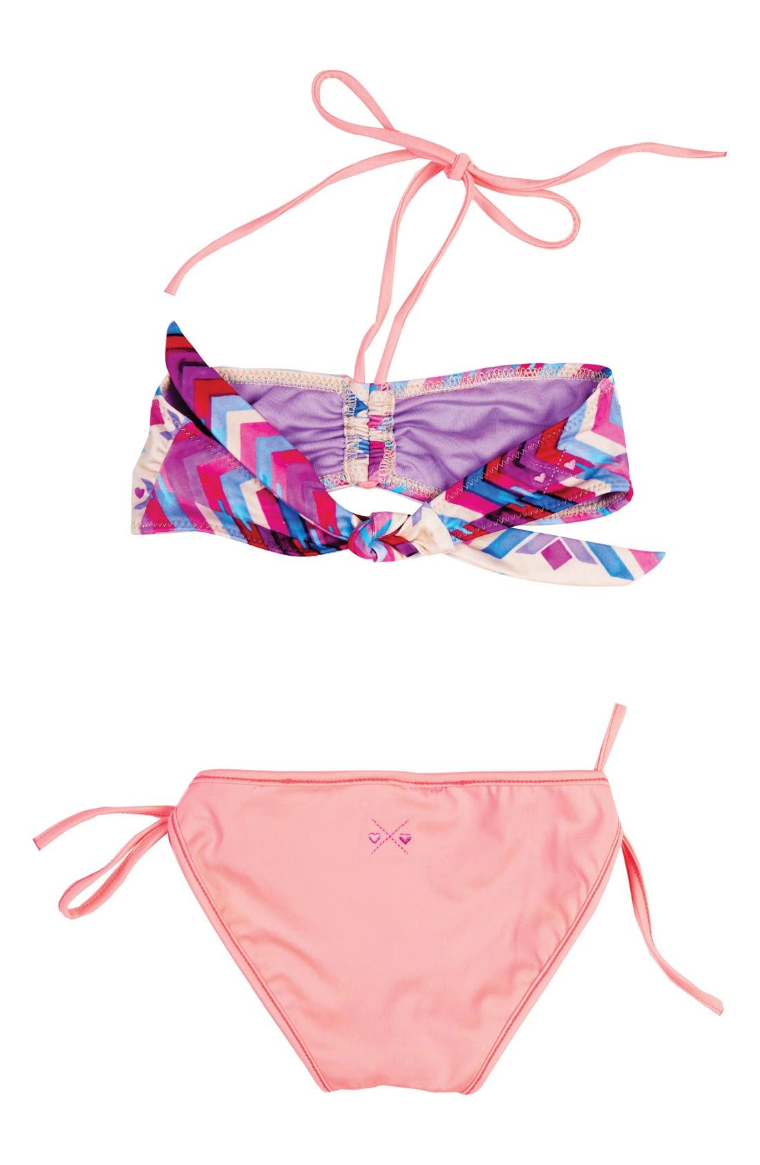 Endless Summer Two-Piece Reversible Bandeau Swimsuit,                             Alternate thumbnail 3, color,                             100