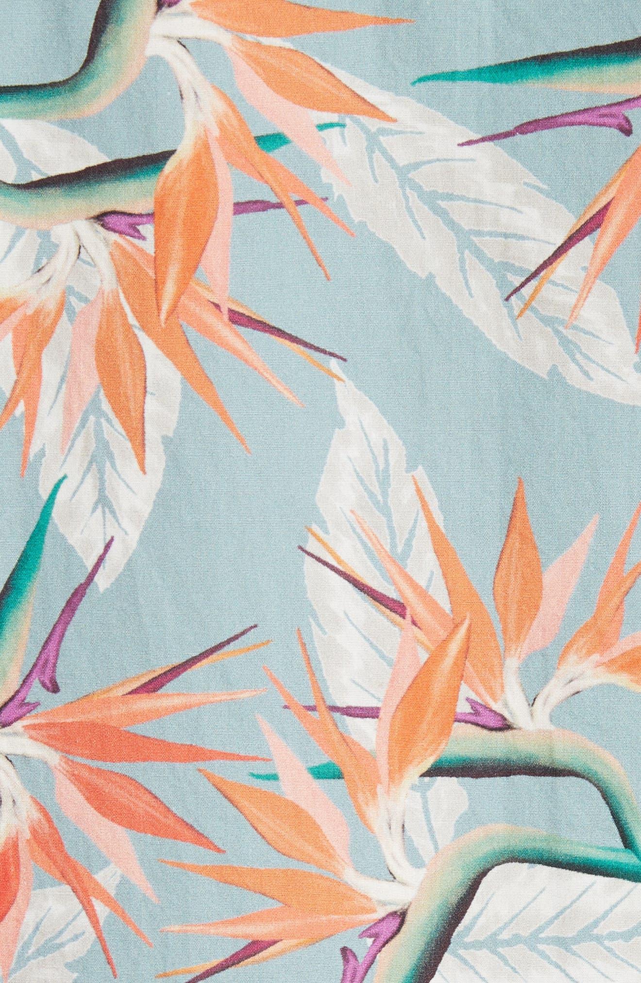 Esquina Paradise Woven Shirt,                             Alternate thumbnail 5, color,                             PARADISE PRINT