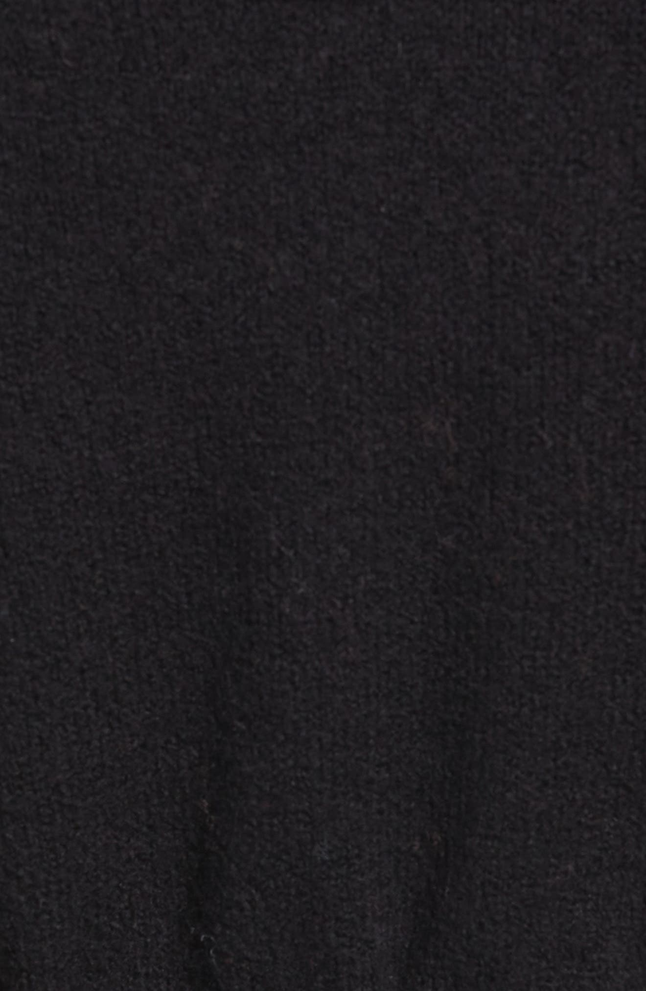 CASLON<SUP>®</SUP>,                             Hooded Cardigan,                             Alternate thumbnail 5, color,                             BLACK