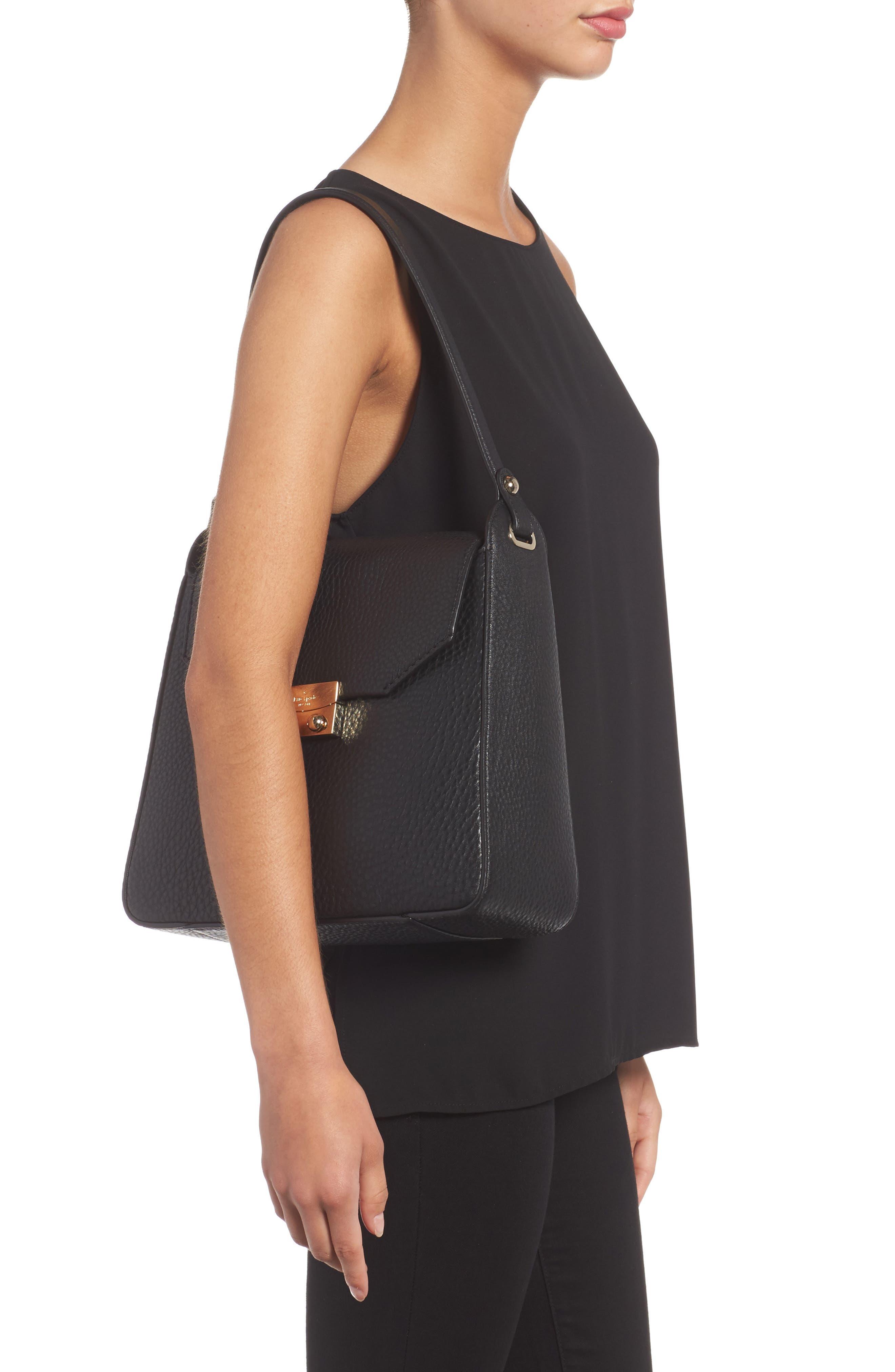 stewart street lynea leather satchel,                             Alternate thumbnail 2, color,                             001