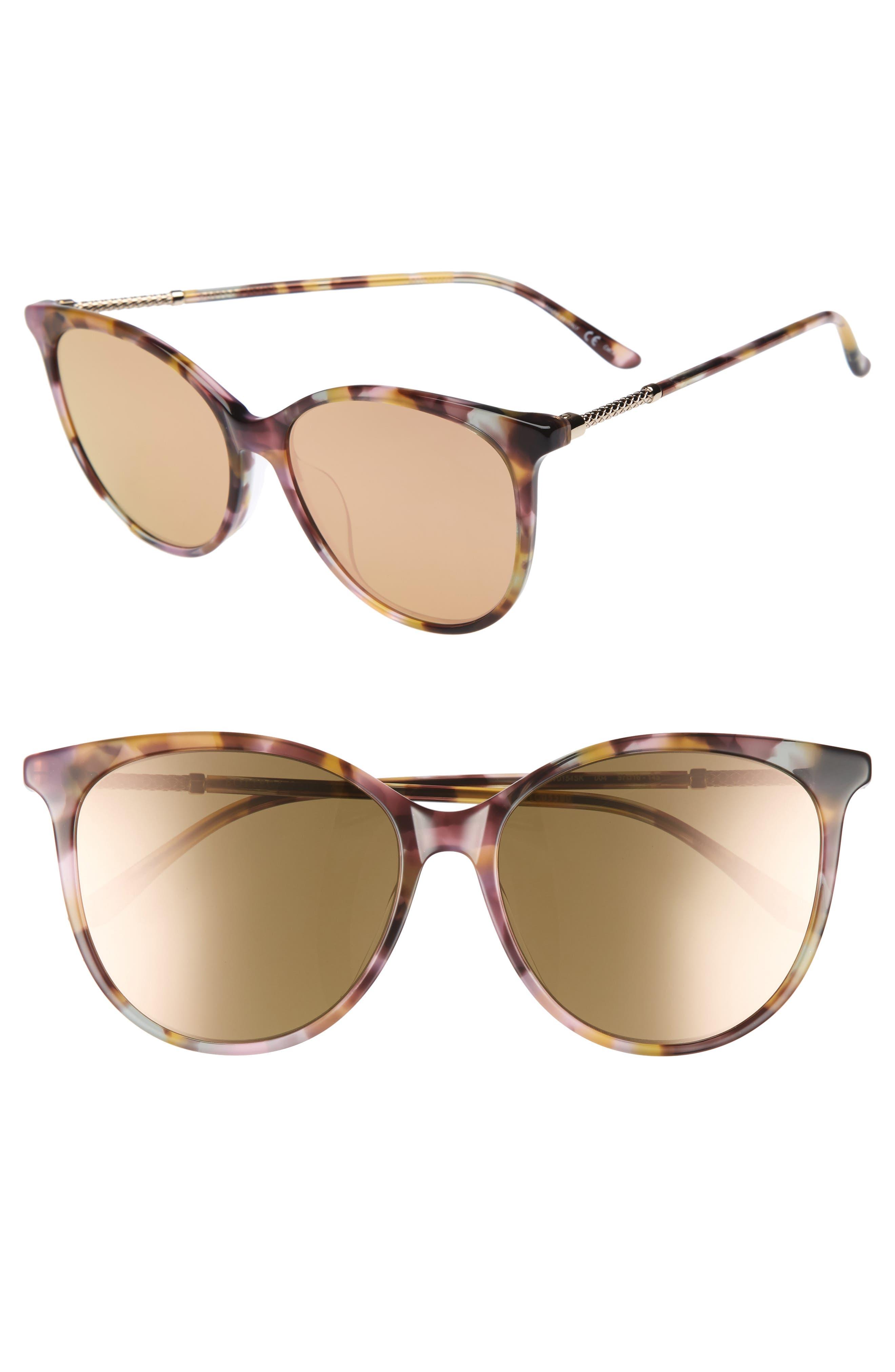 57mm Cat Eye Sunglasses,                             Main thumbnail 3, color,