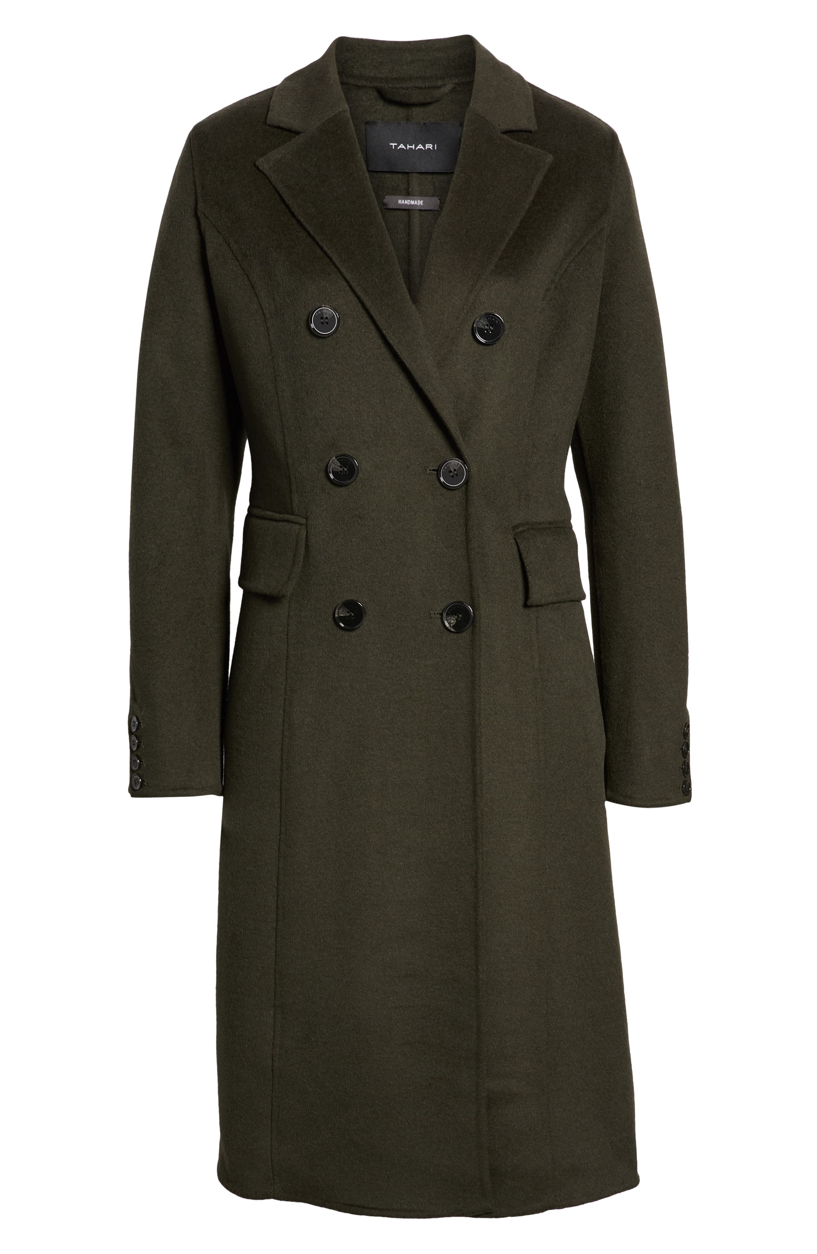 Taylor Double Breasted Wool Coat,                             Alternate thumbnail 6, color,                             300