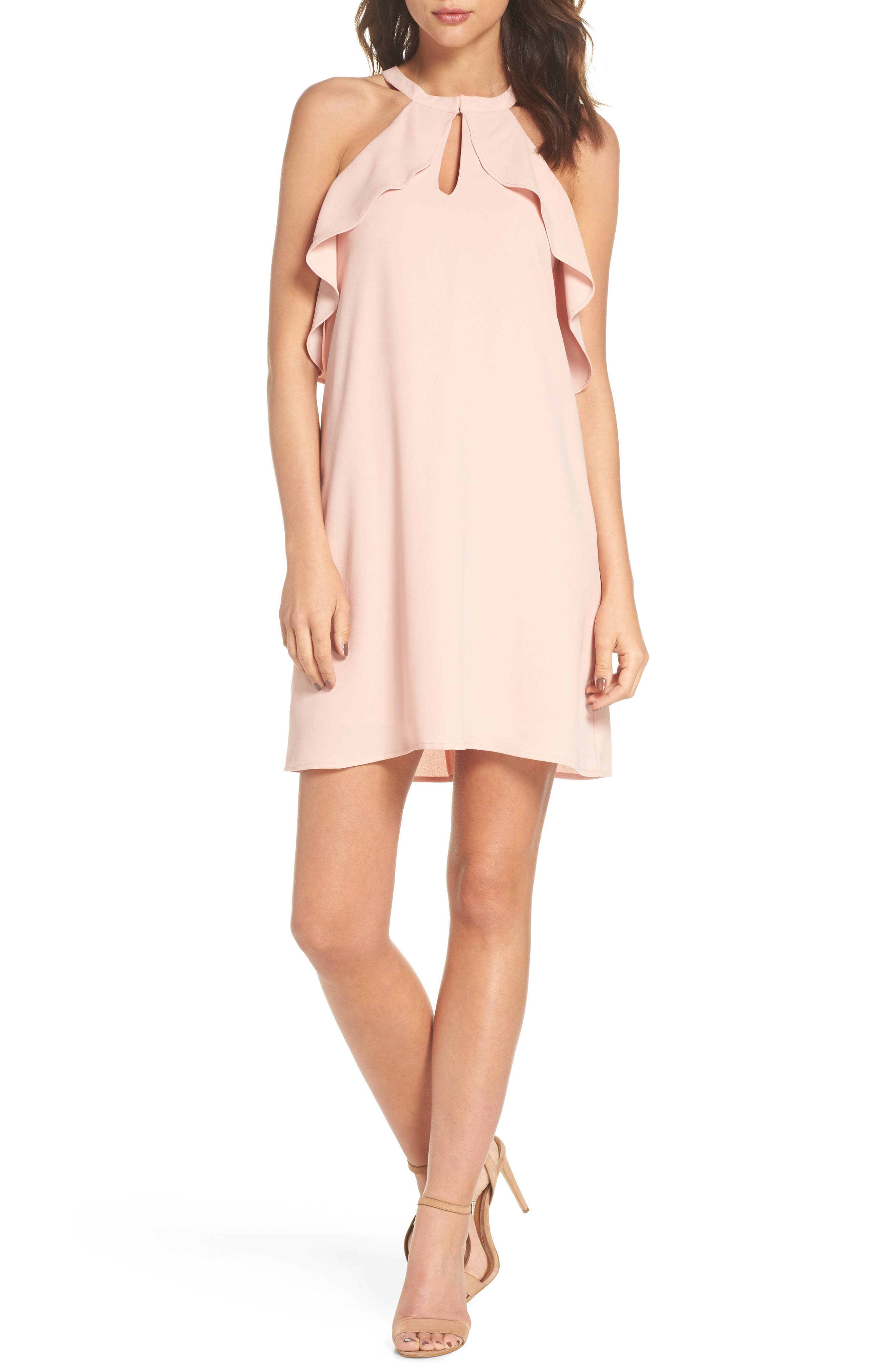 Halter Neck Dress,                         Main,                         color, 689