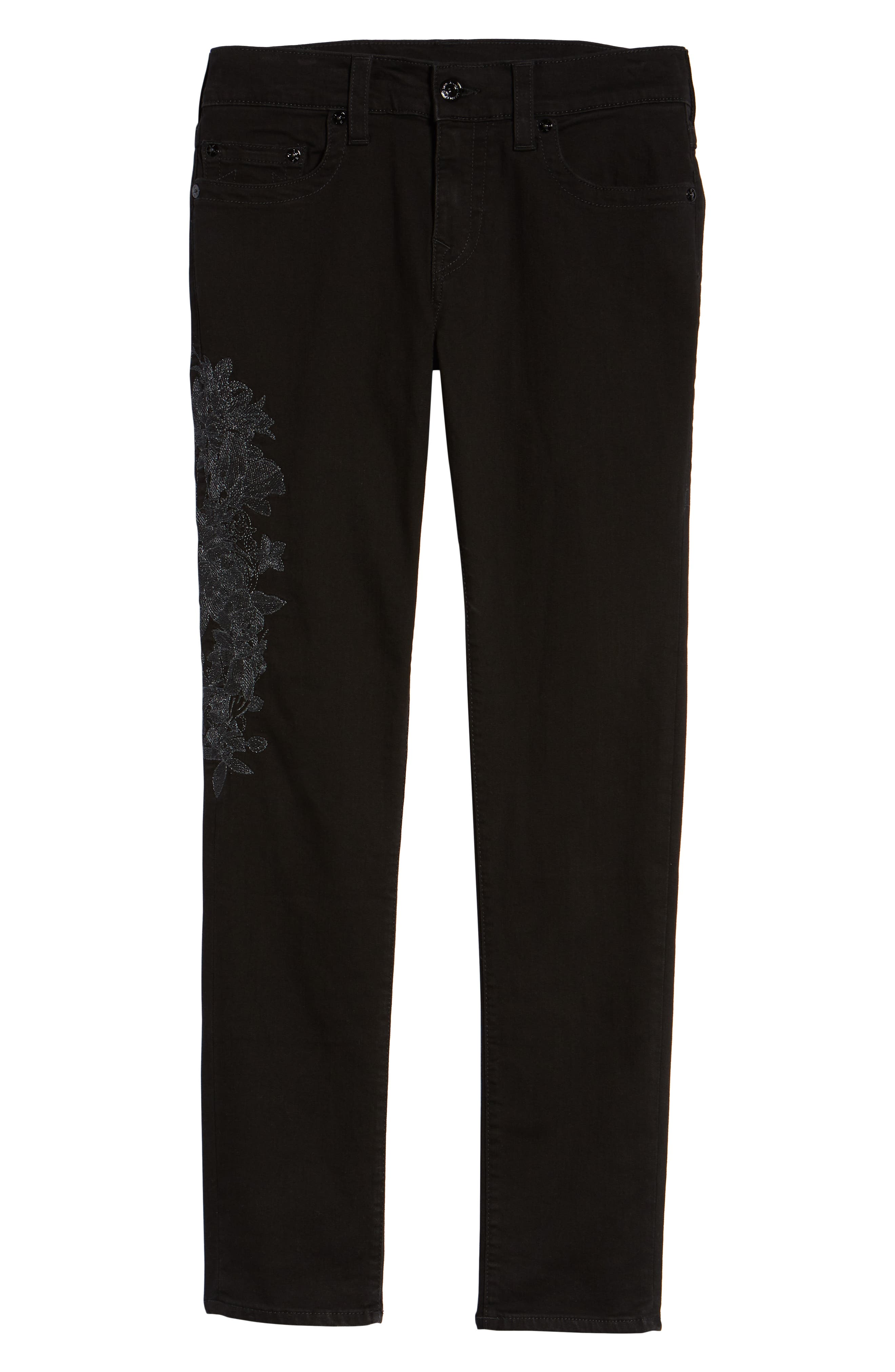 TRUE RELIGION BRAND JEANS,                             Rocco Skinny Fit Jeans,                             Alternate thumbnail 6, color,                             FPCB MAGNETIC FIELD