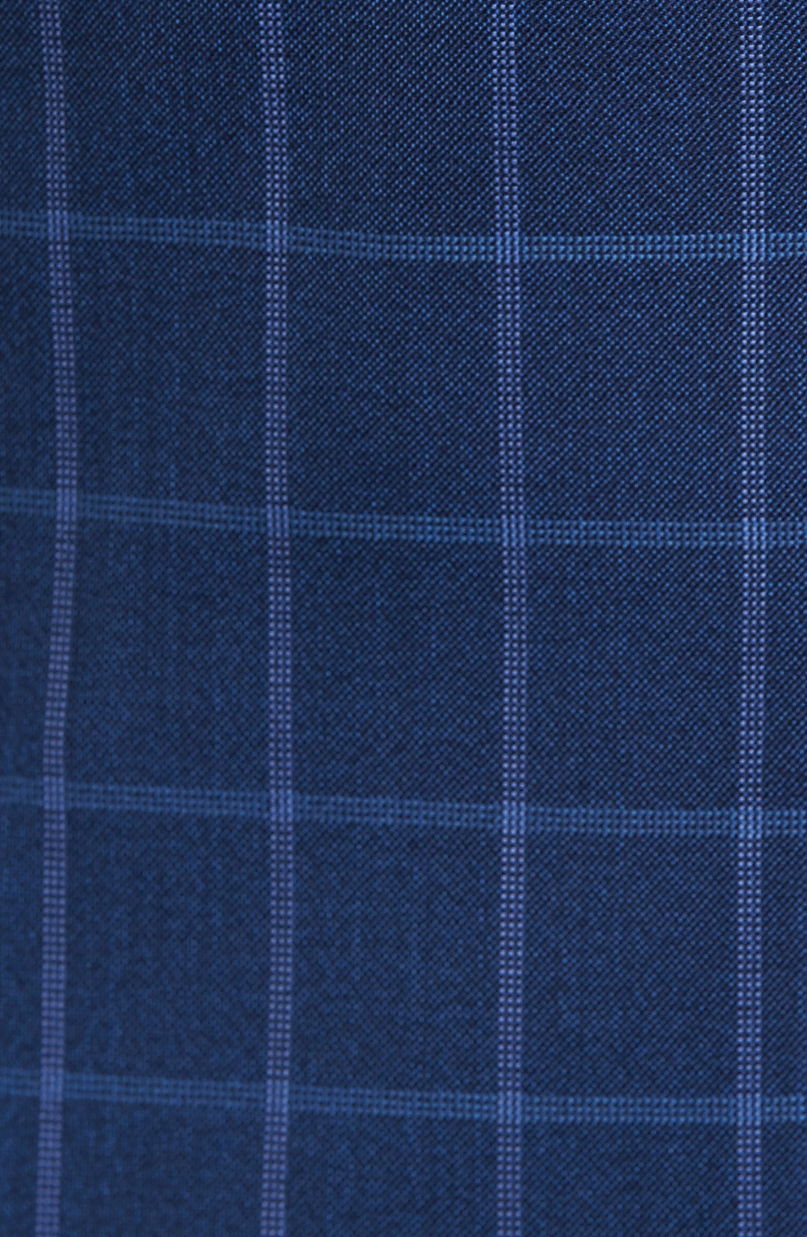 Connor Classic Fit Windowpane Wool Sport Coat,                             Alternate thumbnail 5, color,                             420