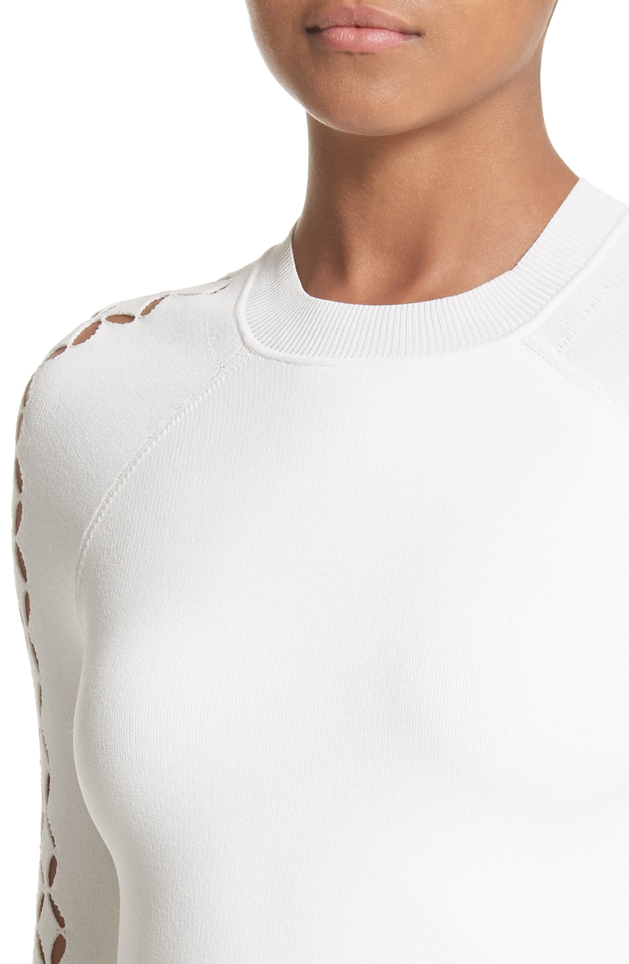 Open Knit Sleeve Top,                             Alternate thumbnail 4, color,