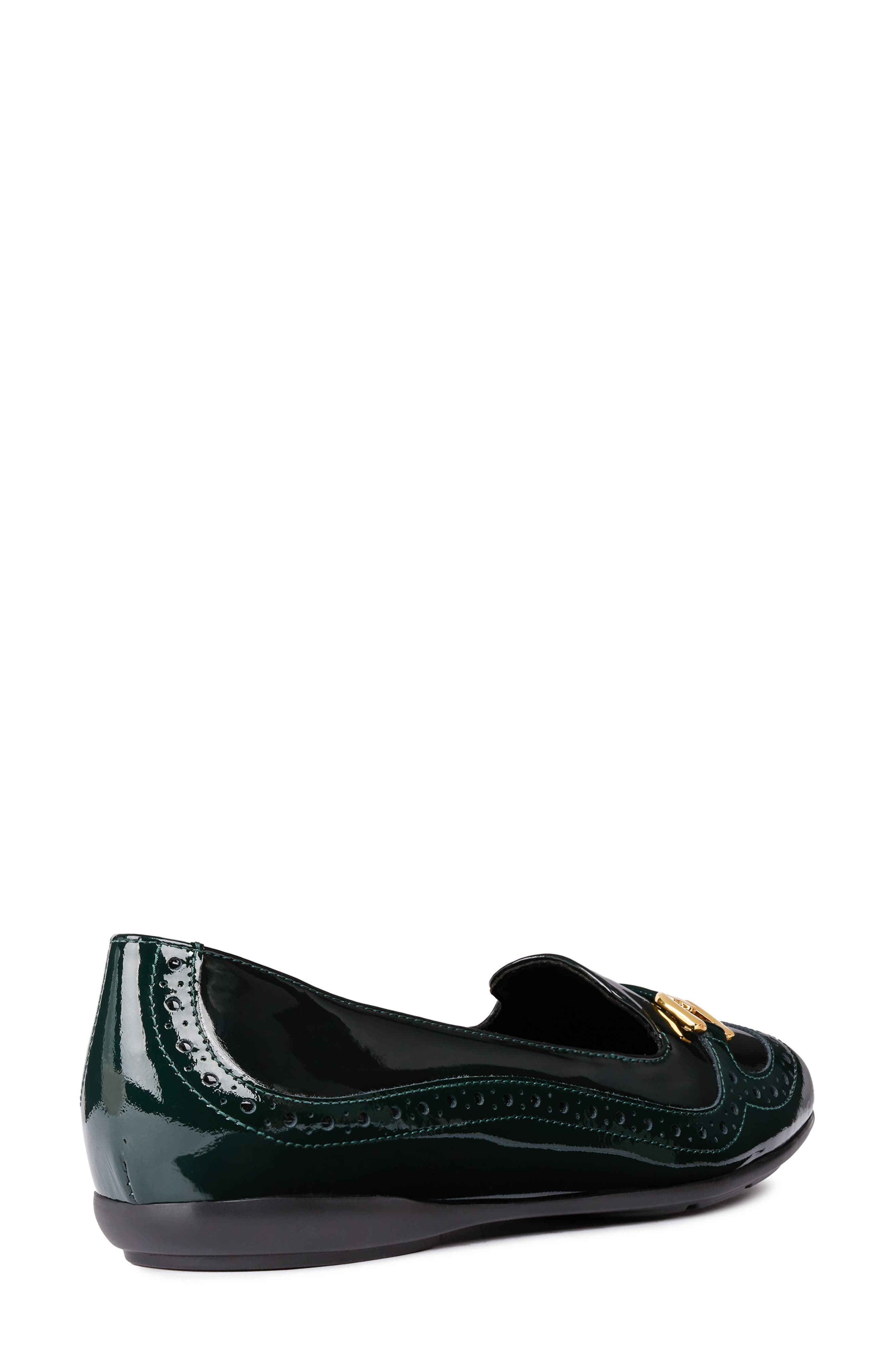 Annytah Loafer,                             Alternate thumbnail 6, color,                             FOREST FAUX PATENT LEATHER