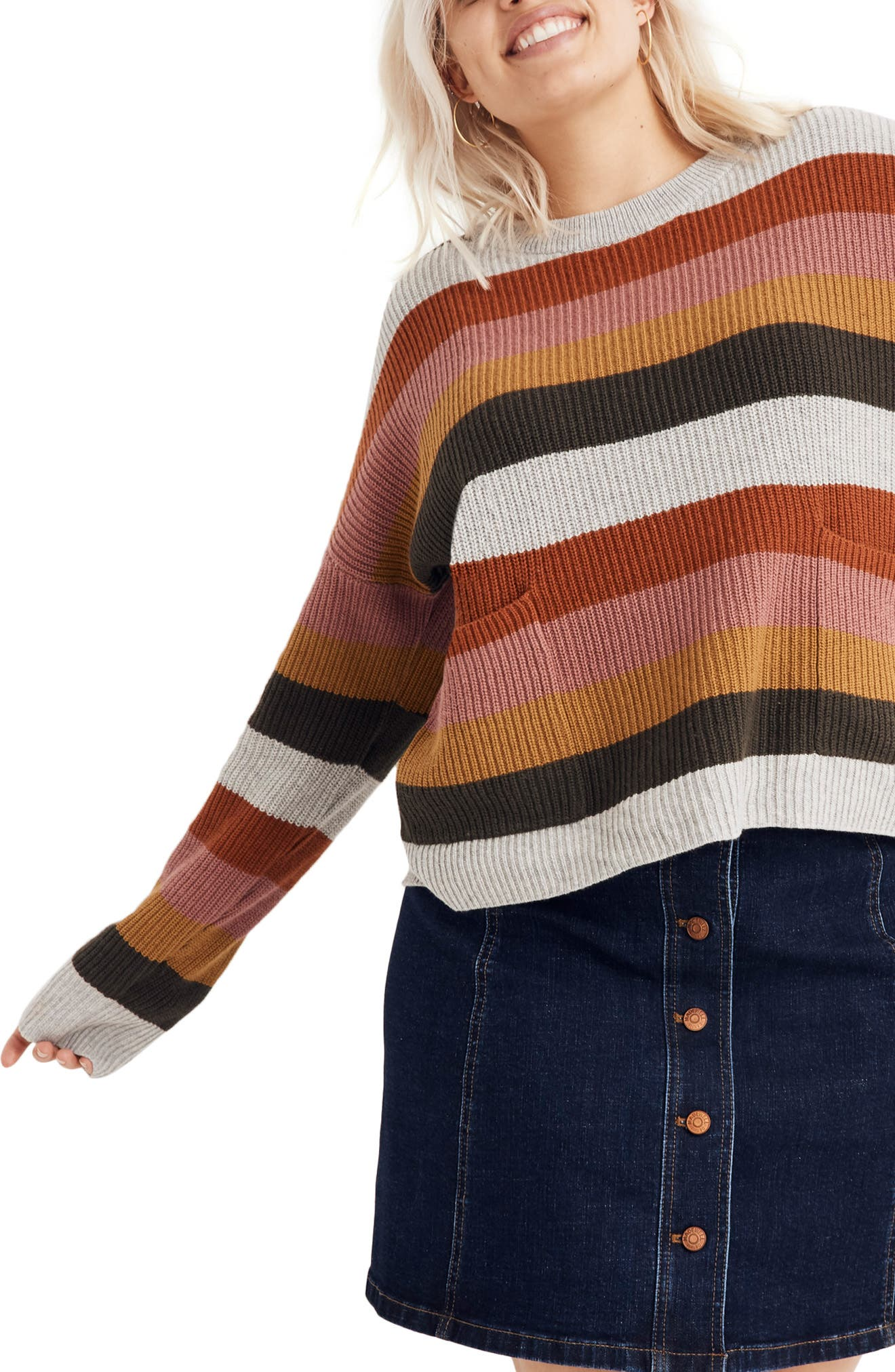 Patch Pocket Pullover Sweater,                         Main,                         color, ARCTIC ICE
