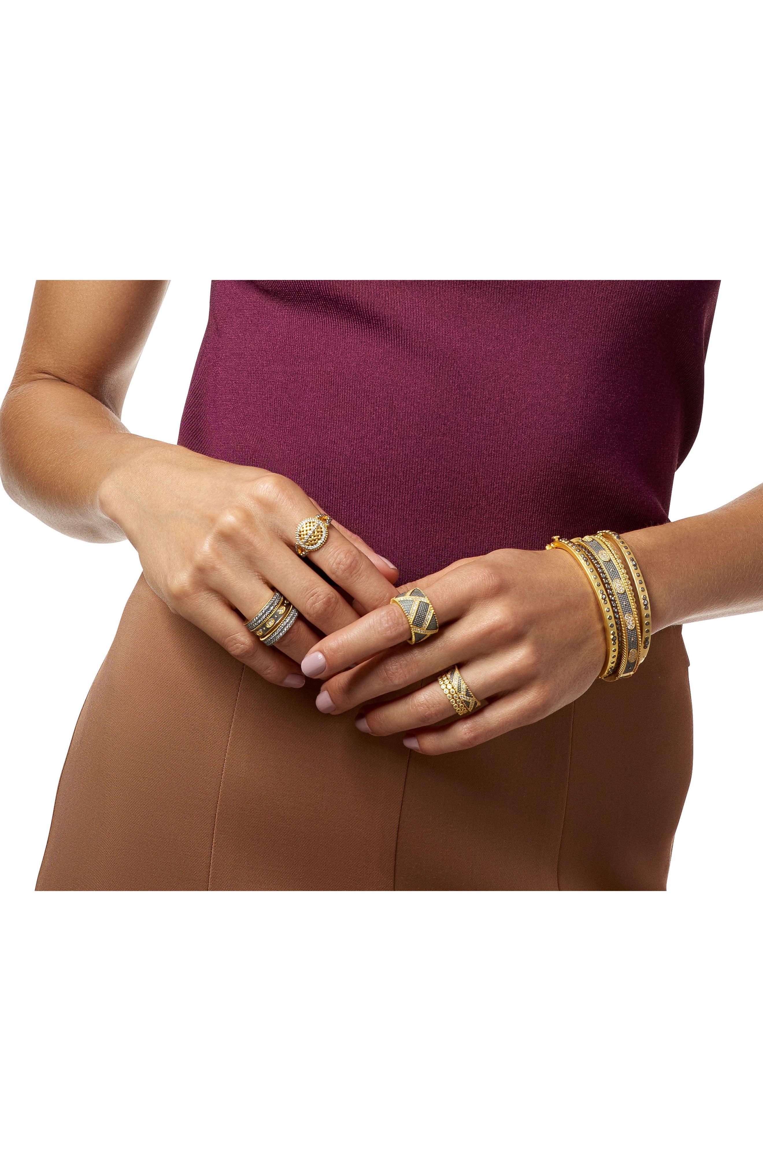 Signature Mini Stud Eternity Bracelet,                             Alternate thumbnail 2, color,                             GOLD/ BLACK